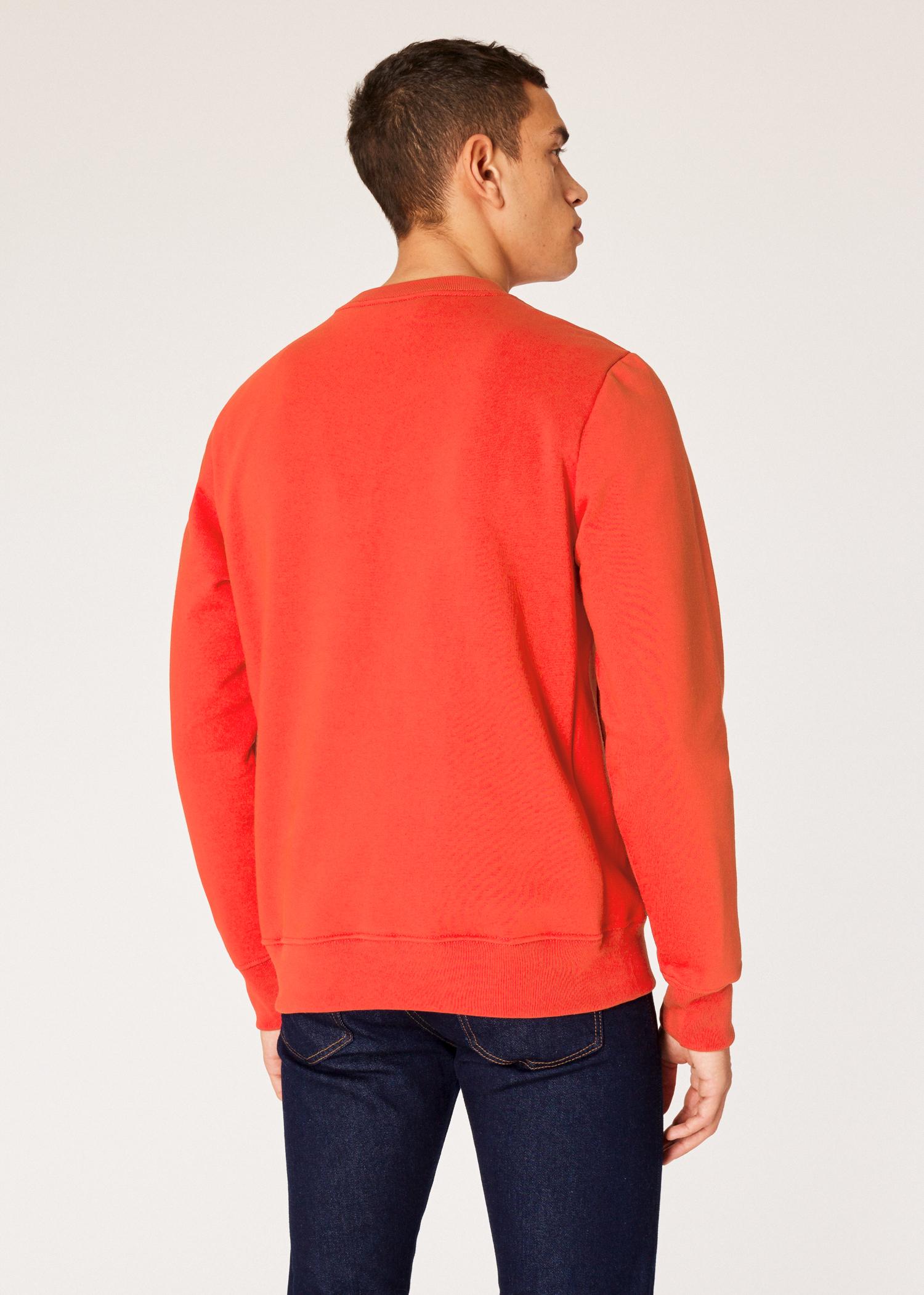 21805a6c001 Vue mannequin dos zoom - Sweatshirt Homme Orange Logo Zèbre En Coton Bio  Paul Smith