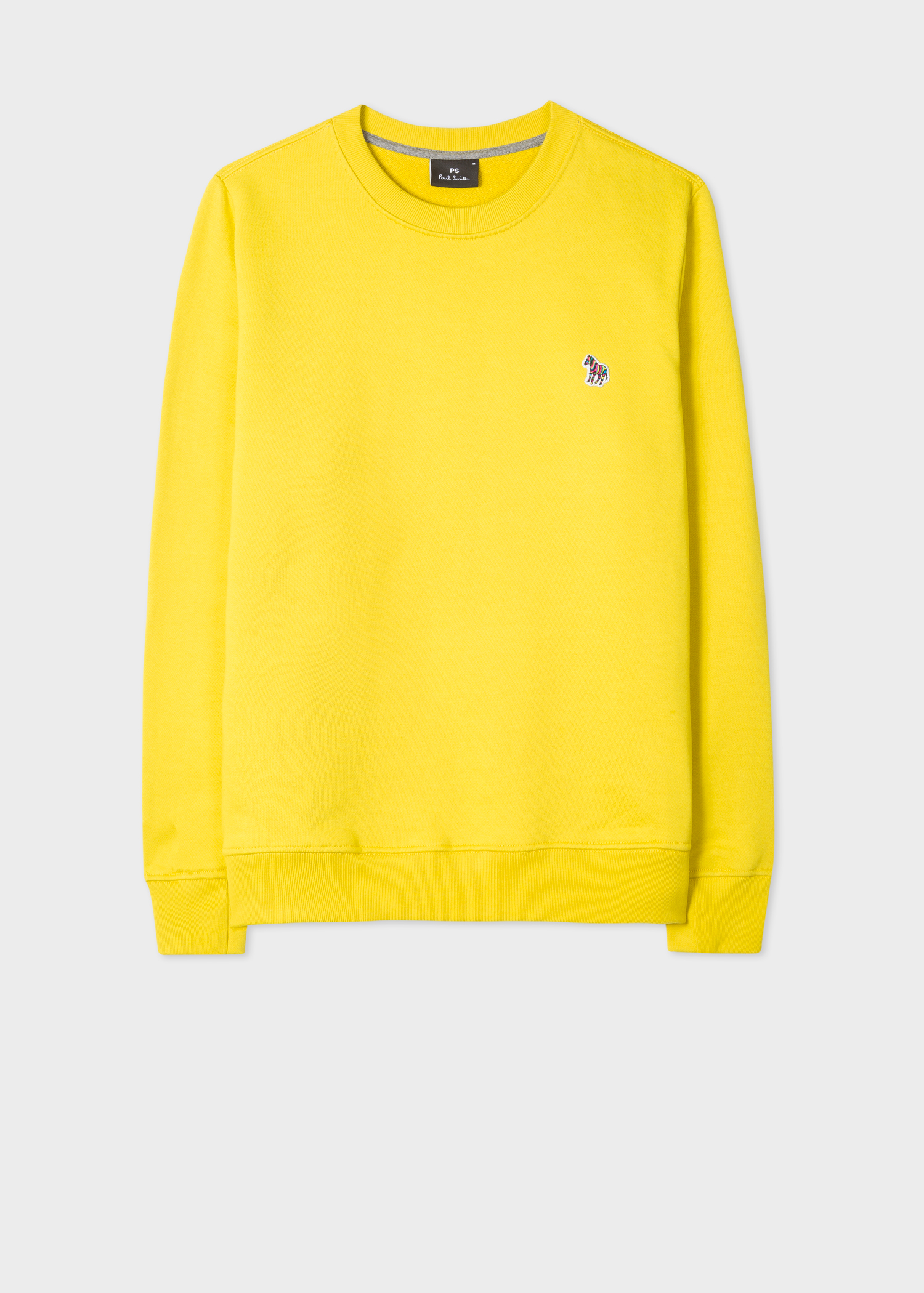 721b1db63 Front view - Men's Yellow Organic-Cotton Zebra Logo Sweatshirt Paul Smith