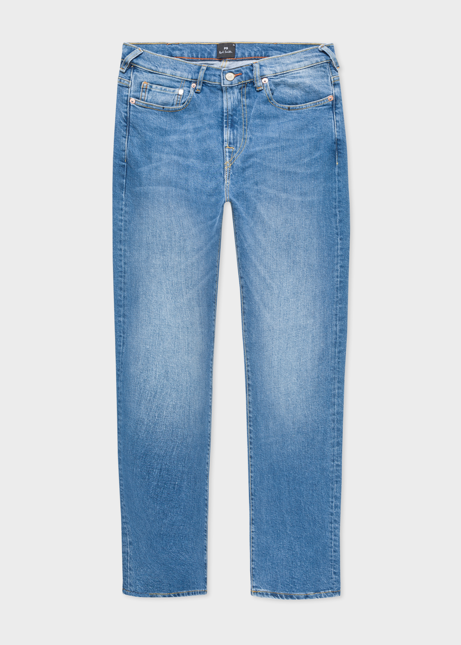 0c7ef306 Front view - Men's Slim-Fit Vintage Wash Stretch-Denim Jeans Paul Smith