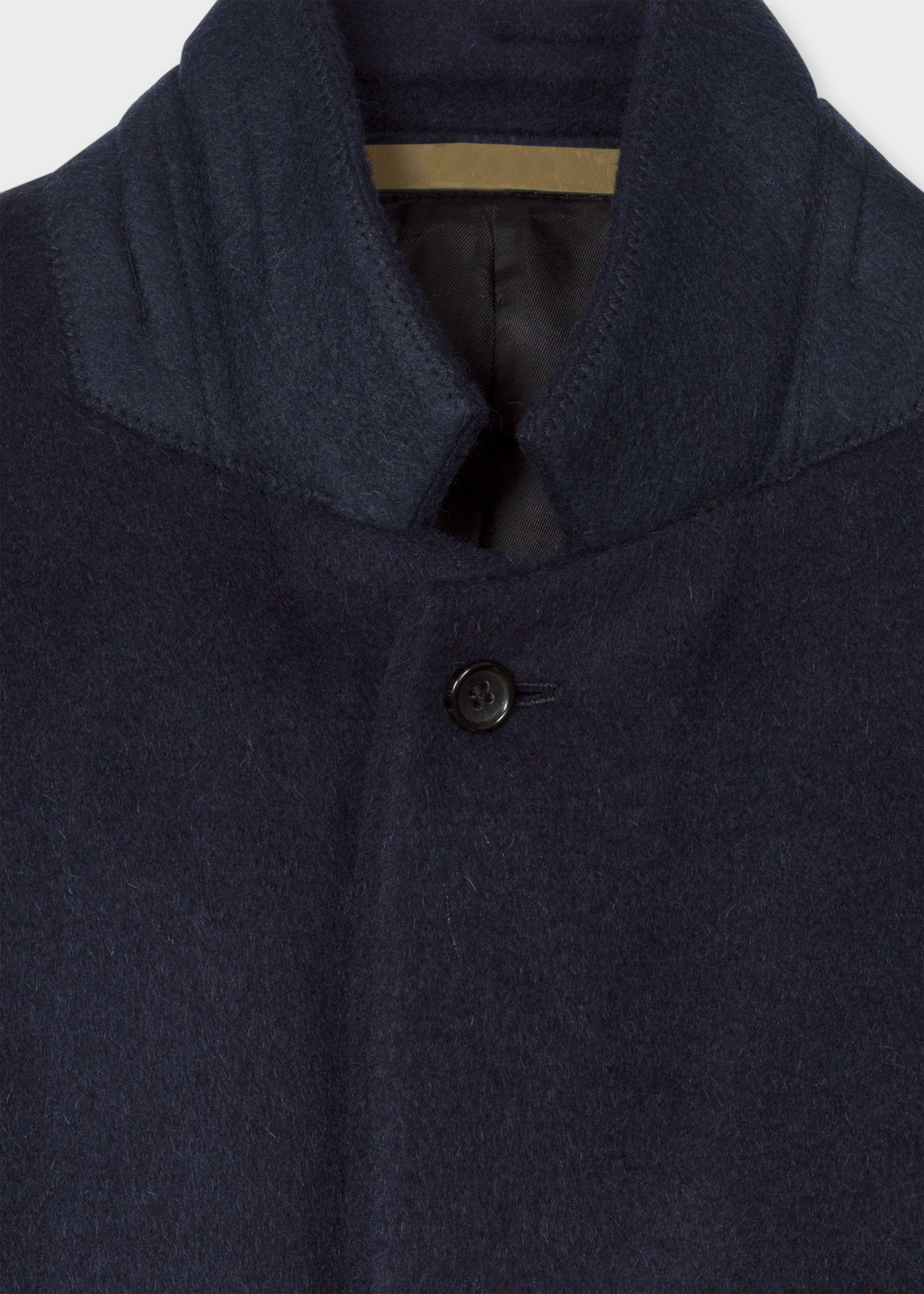 8cf84664db6 Men s Dark Navy Alpaca-Wool Blend Overcoat - Paul Smith US