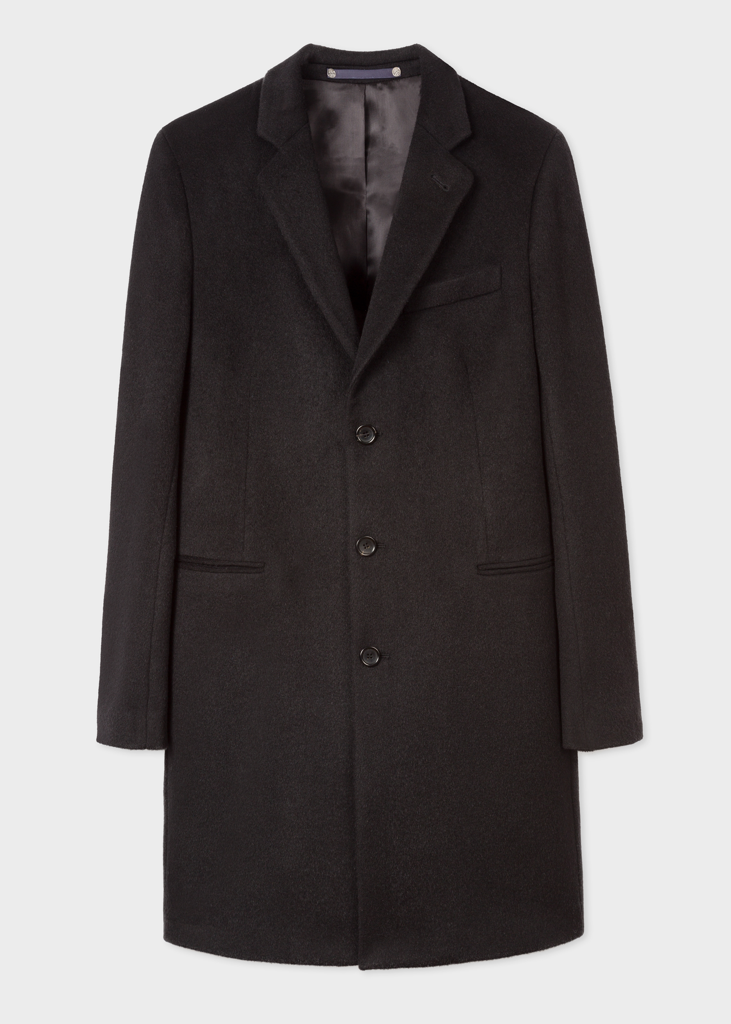a7faa4b35f0 Men s Black Alpaca-Wool Blend Overcoat - Paul Smith Asia