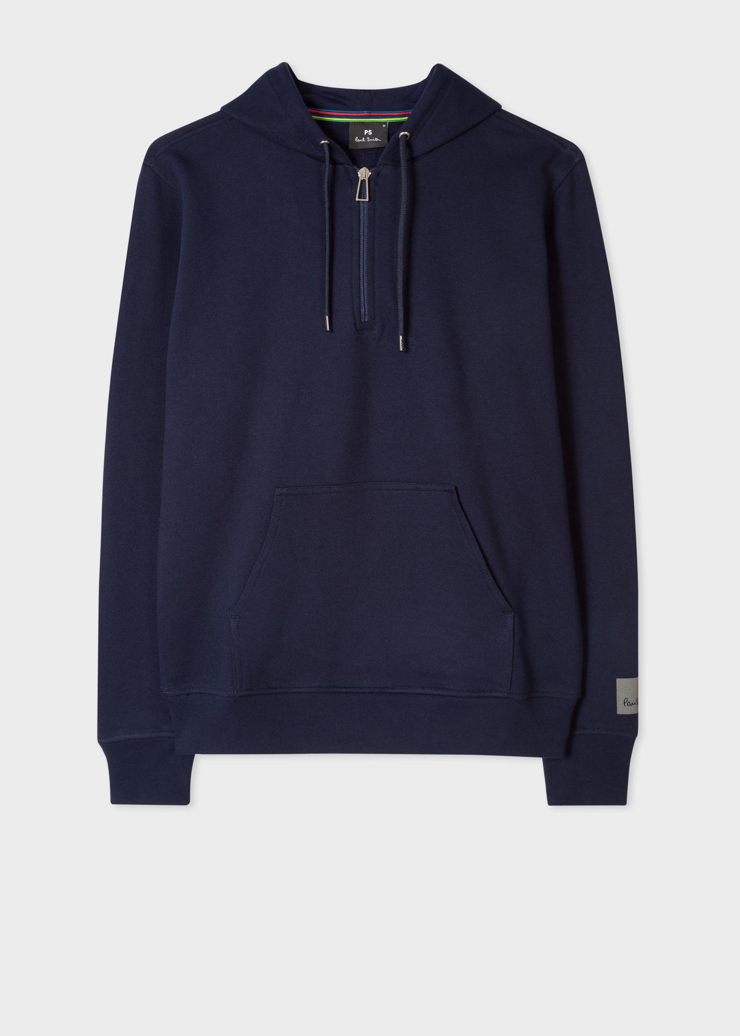 Capuche Paul Demi Sweatshirt Marine Homme Zippé Coton En Bleu À H1SwqAnaZ
