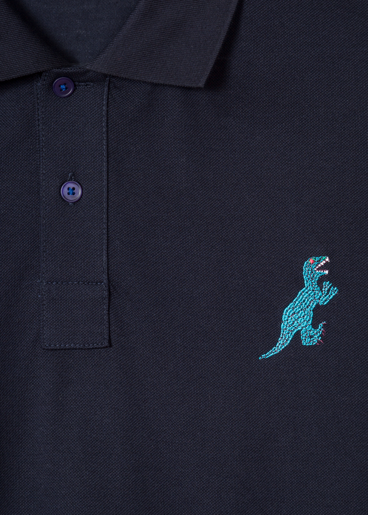fd61c8d8f Detailed View - Men s Slim-Fit Dark Navy Embroidered  Dino  Polo Shirt Paul.  PS PAUL SMITH