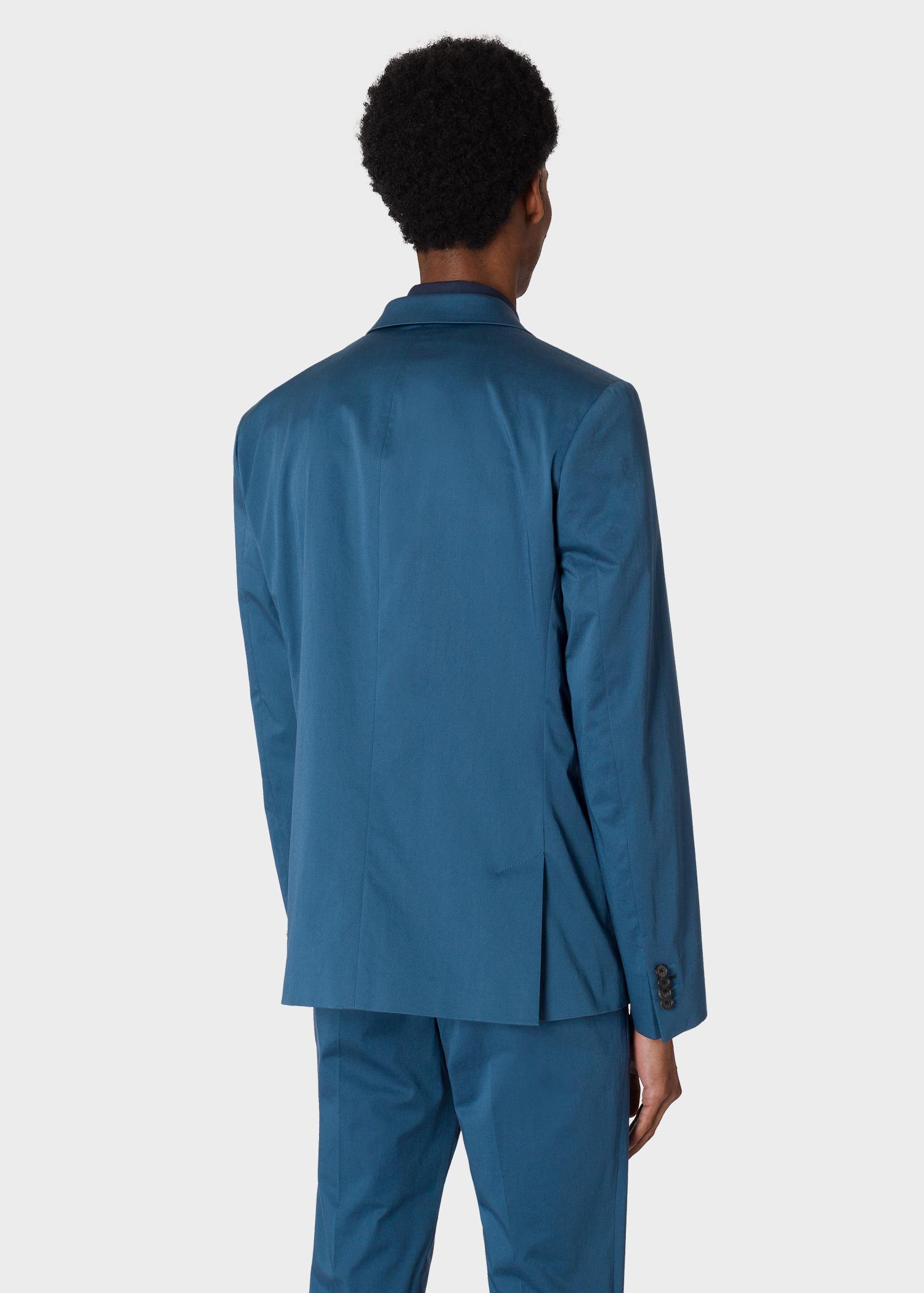 658a3dfd03 Men's Slim-Fit Slate Blue Stretch-Cotton Buggy-Lined Blazer