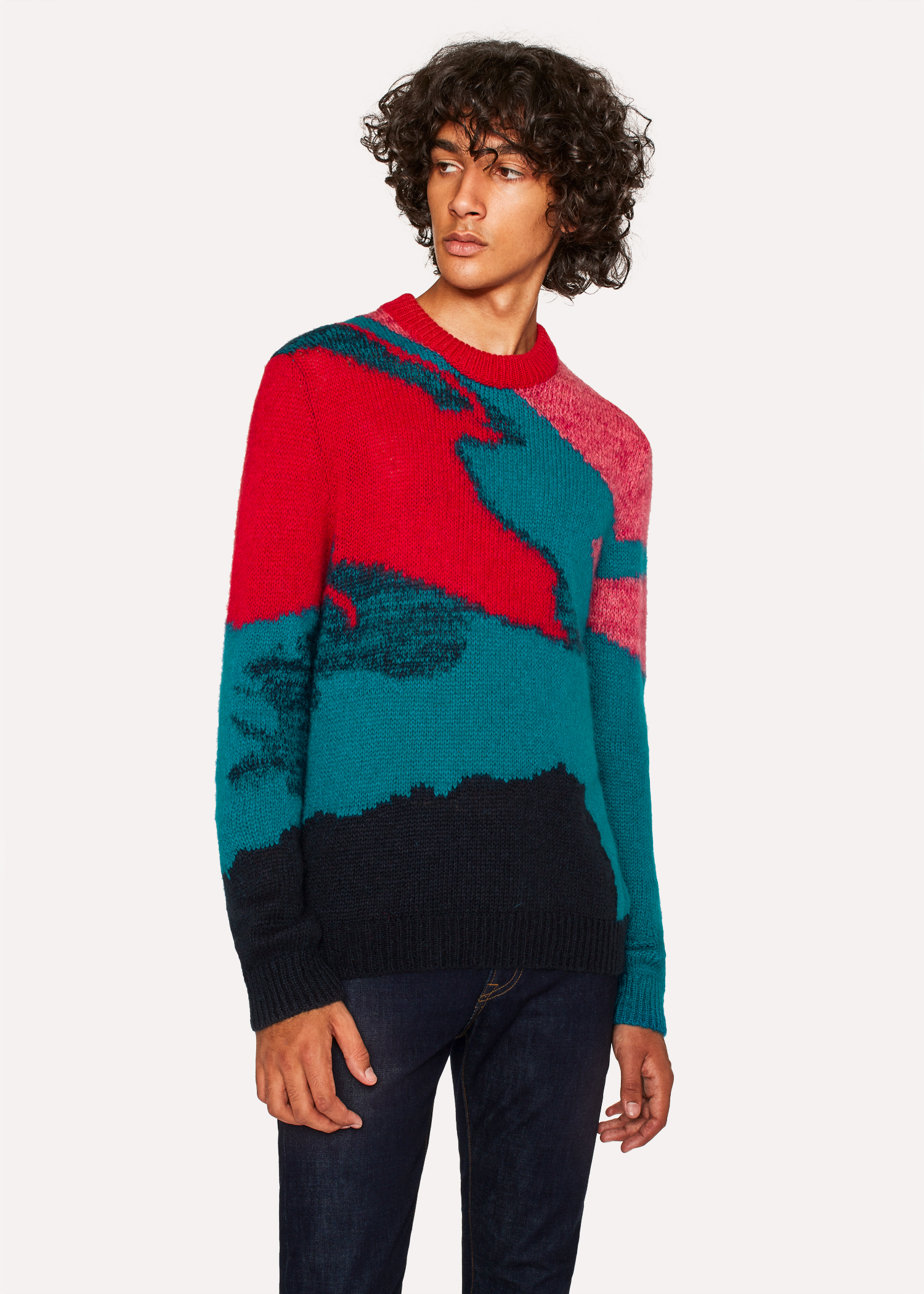 Mens Multi Coloured Camouflage Mohair Blend Sweater Paul Smith Us