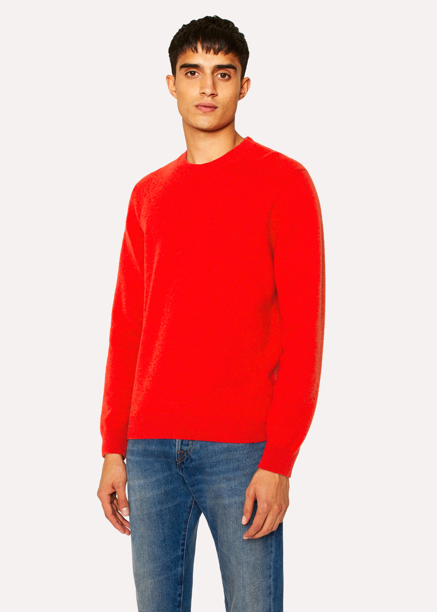 1cef8a04b Men s Red Lambswool Sweater - Paul Smith Europe