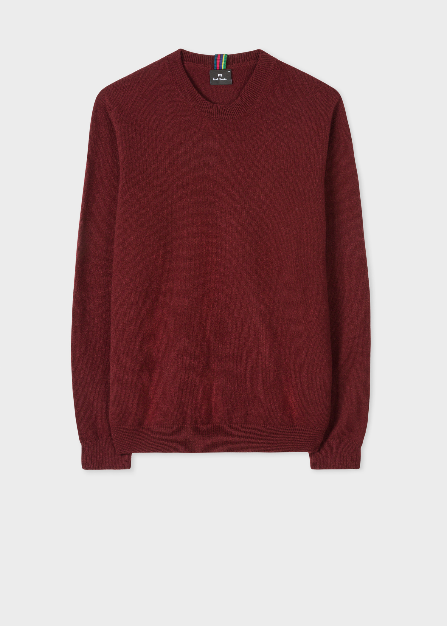 e6d3fcfd3cf5 Men s Burgundy Lambswool Sweater - Paul Smith