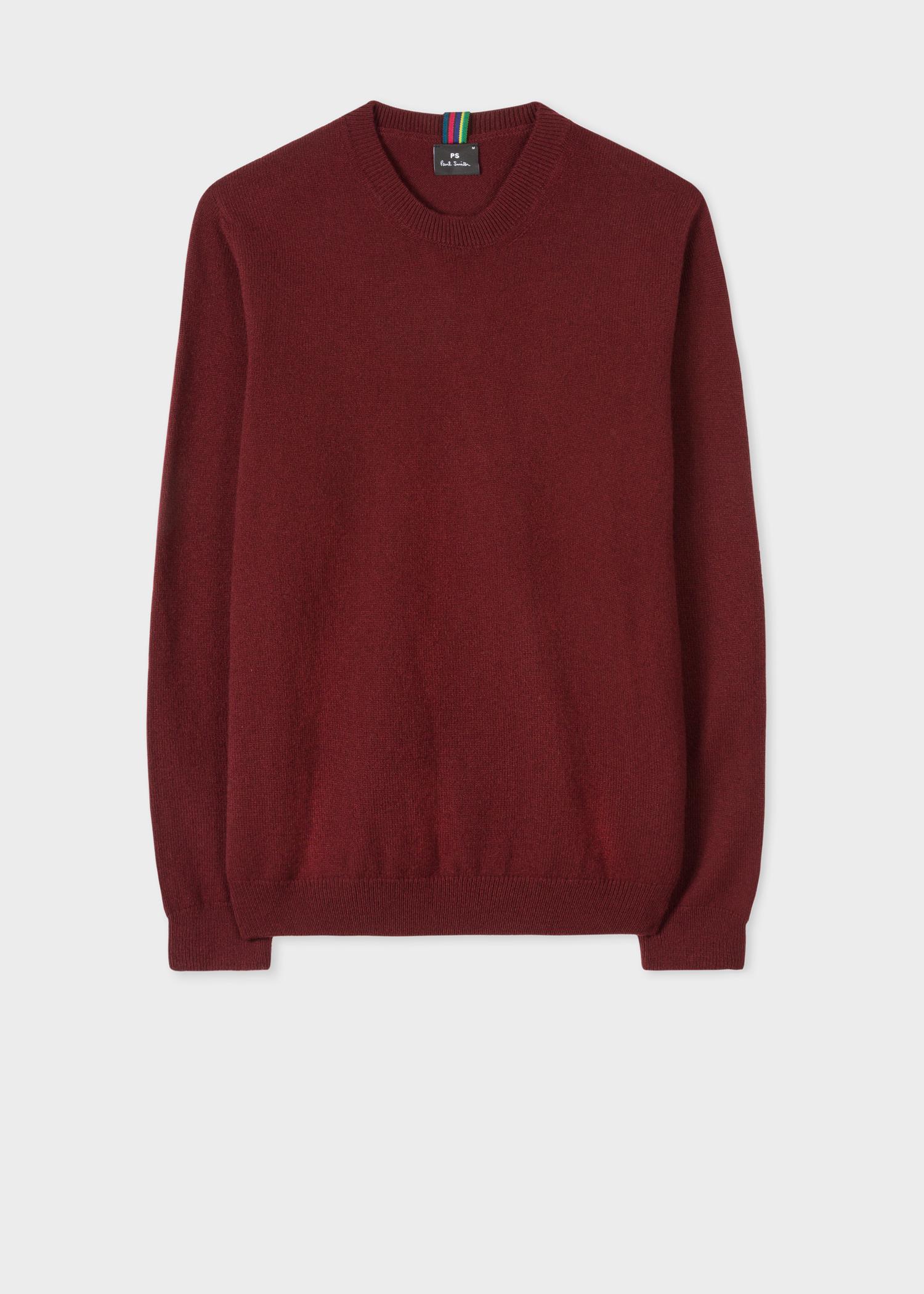 ce55f3b35 Men s Burgundy Lambswool Sweater - Paul Smith