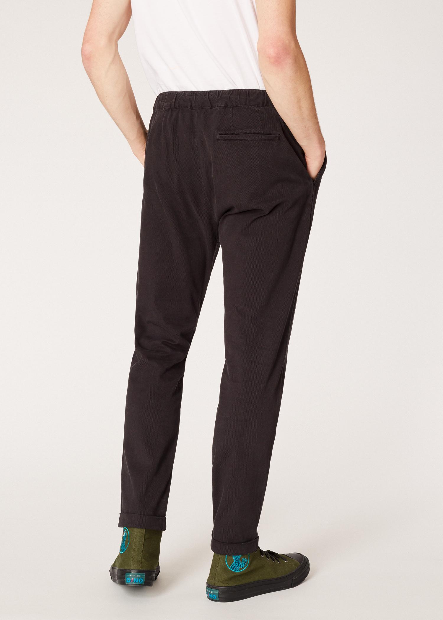 053e530a30b4 Vue mannequin dos zoom - Pantalon Homme Gris Anthracite En Coton Stretch  Avec Ceinture Élastiquée Paul