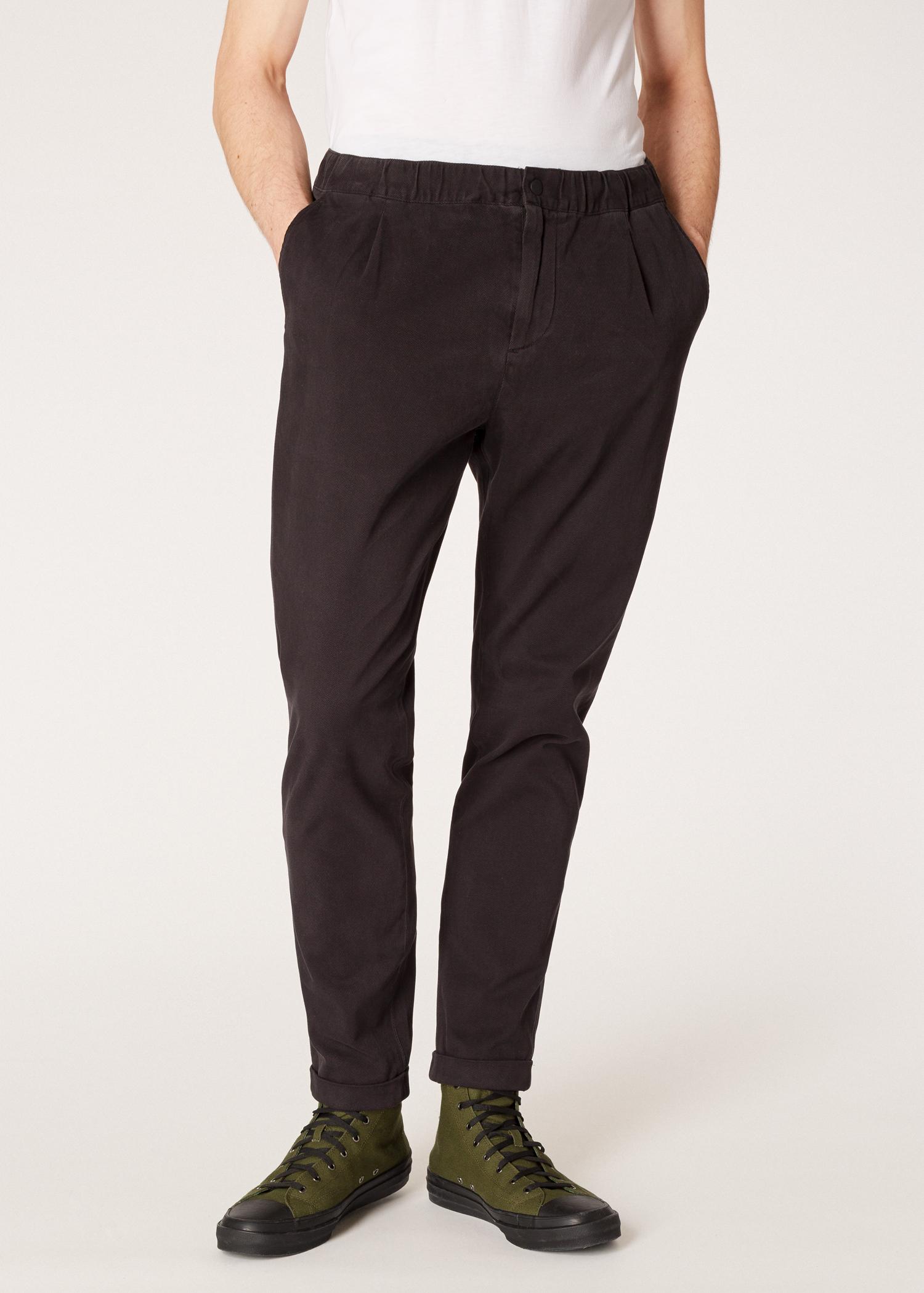 homme ceinture gris pantalon coton en anthracite stretch