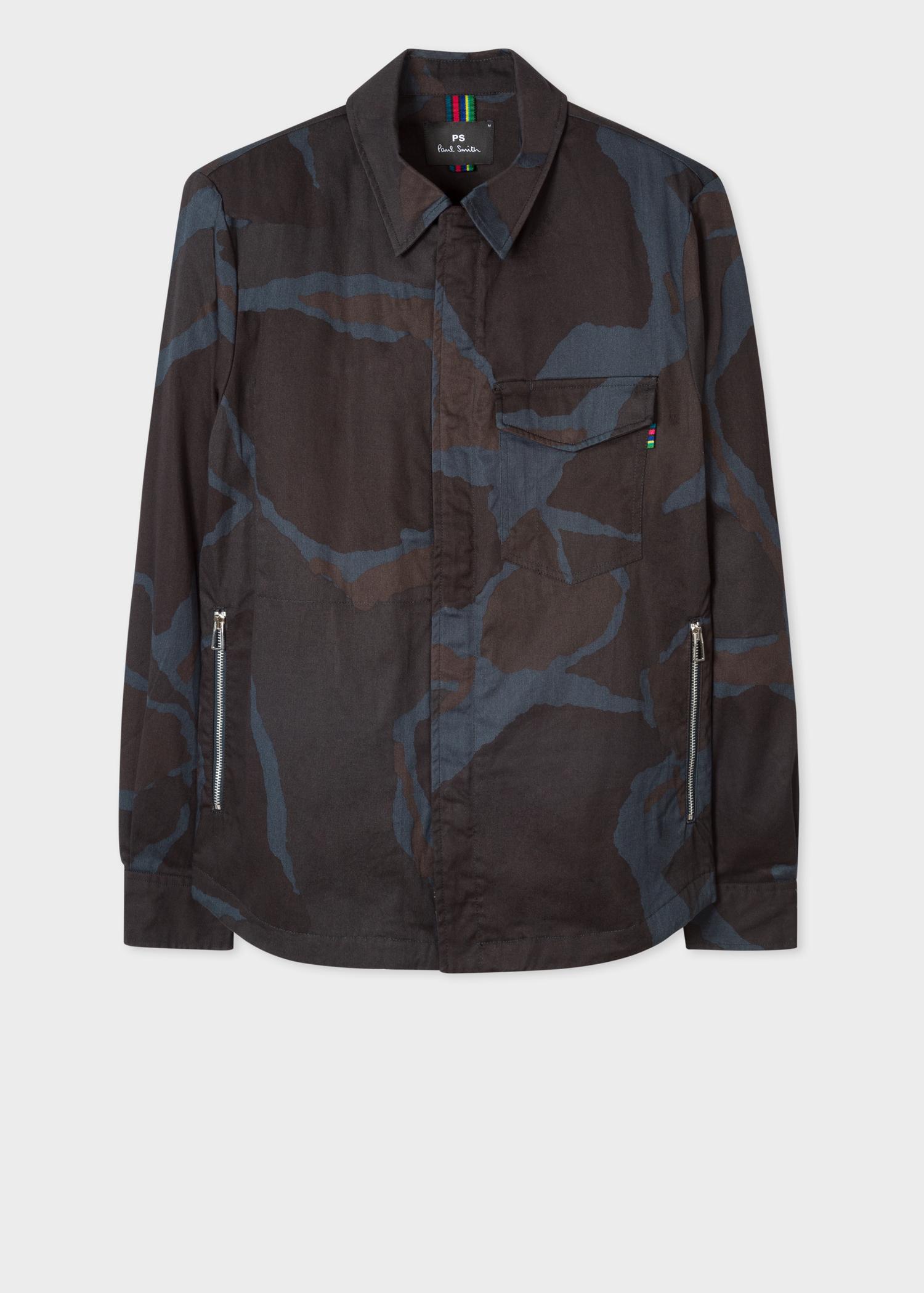 Veste Veste Surchemise Smith Coton Bleu Homme Paul Camouflage En Marine dd8rwq