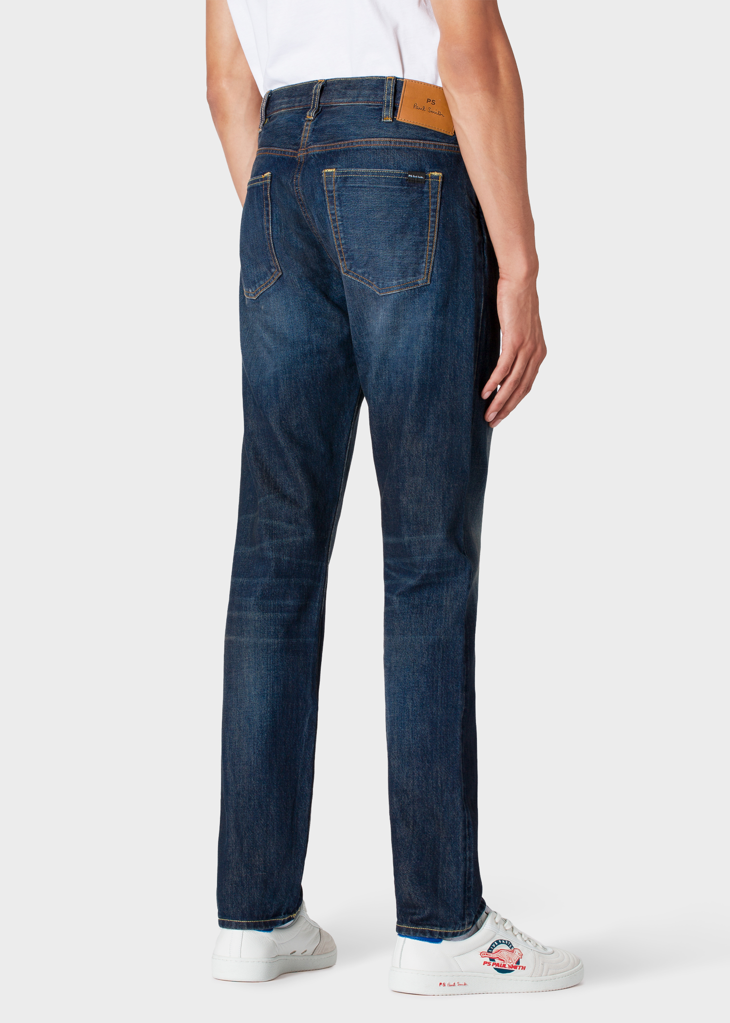 Turbo Men's Tapered-Fit Dark-Wash 'Cone™ Red Selvedge' Jeans - Paul Smith US DC58