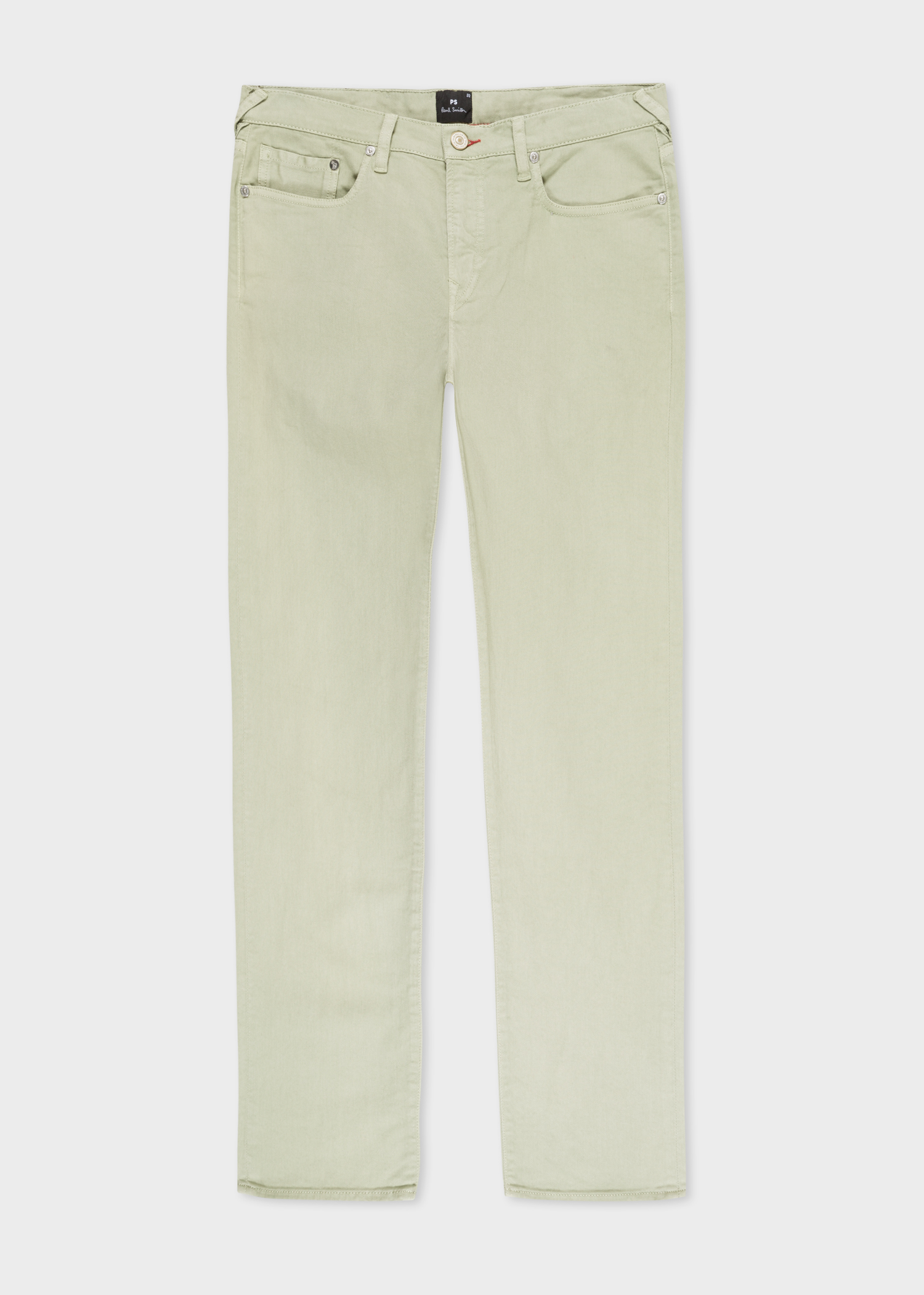 Front view - Men s Tapered-Fit Green Garment-Dye Jeans Paul Smith 1e8c141f241ab