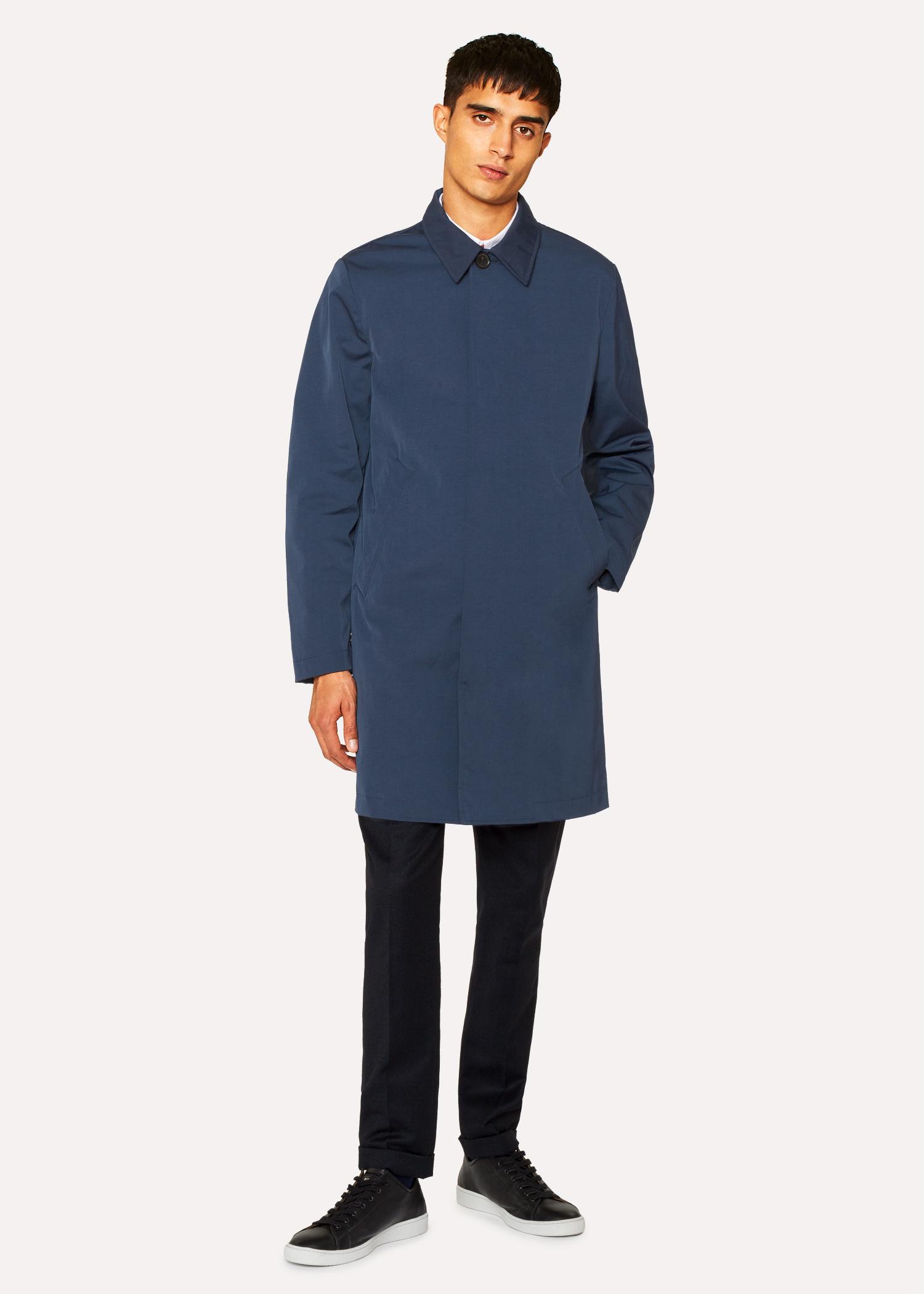 Paul Bleu Doublé Smith En Mélangé Imperméable Coton Pétrole Homme Non 4xOH81