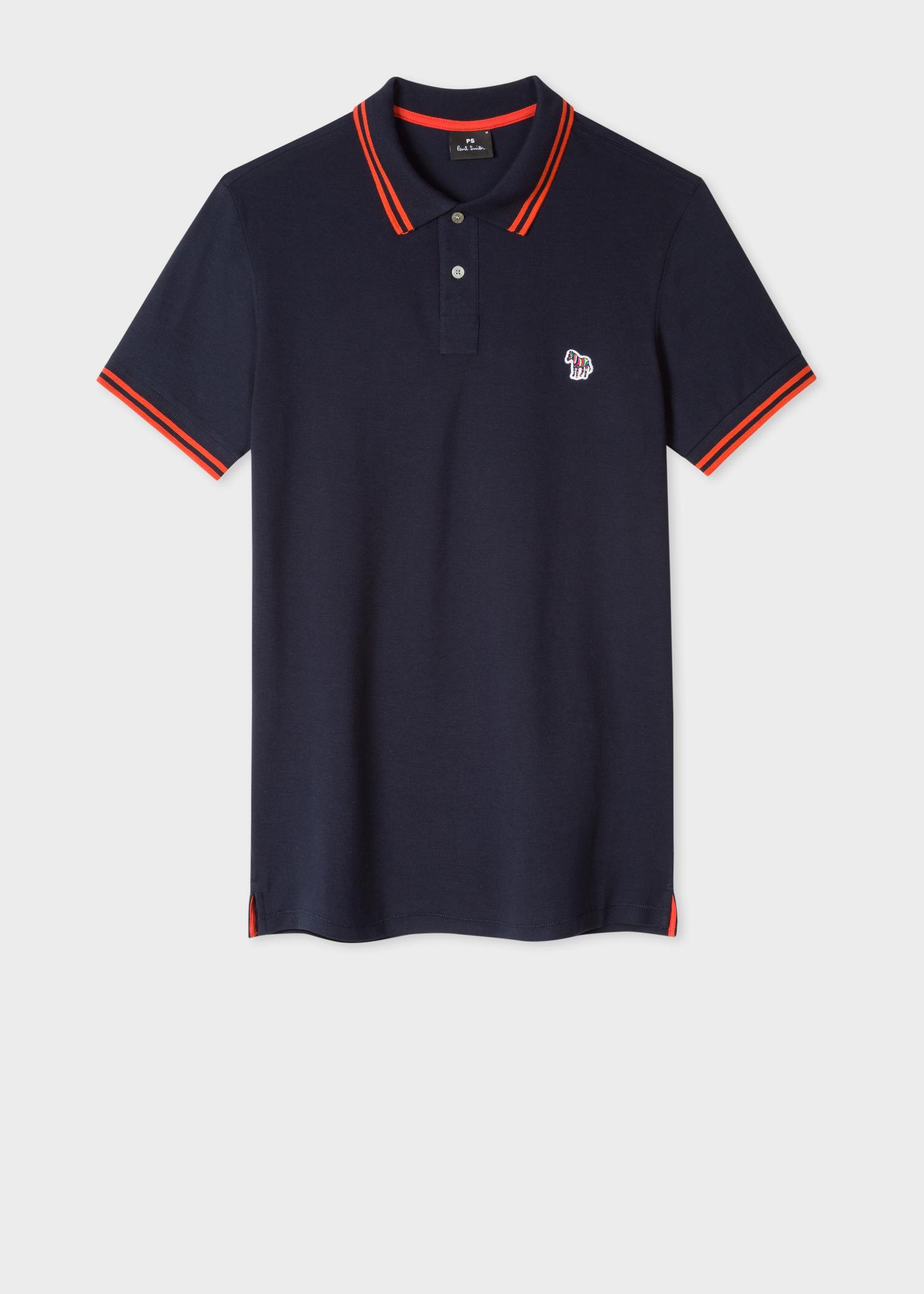 Navy Tipping Dark Orange Zebra Men's Slim With Polo Fit Paul Shirt 1qUnCtxzw
