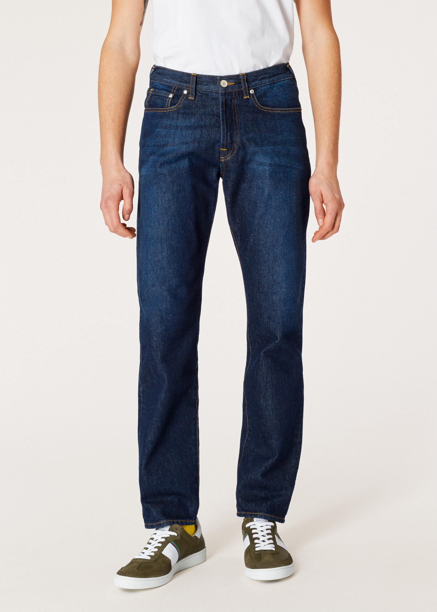 0eafa60b692 Men s Classic-Fit Dark-Wash  Organic Salt   Pepper  Denim Jeans ...