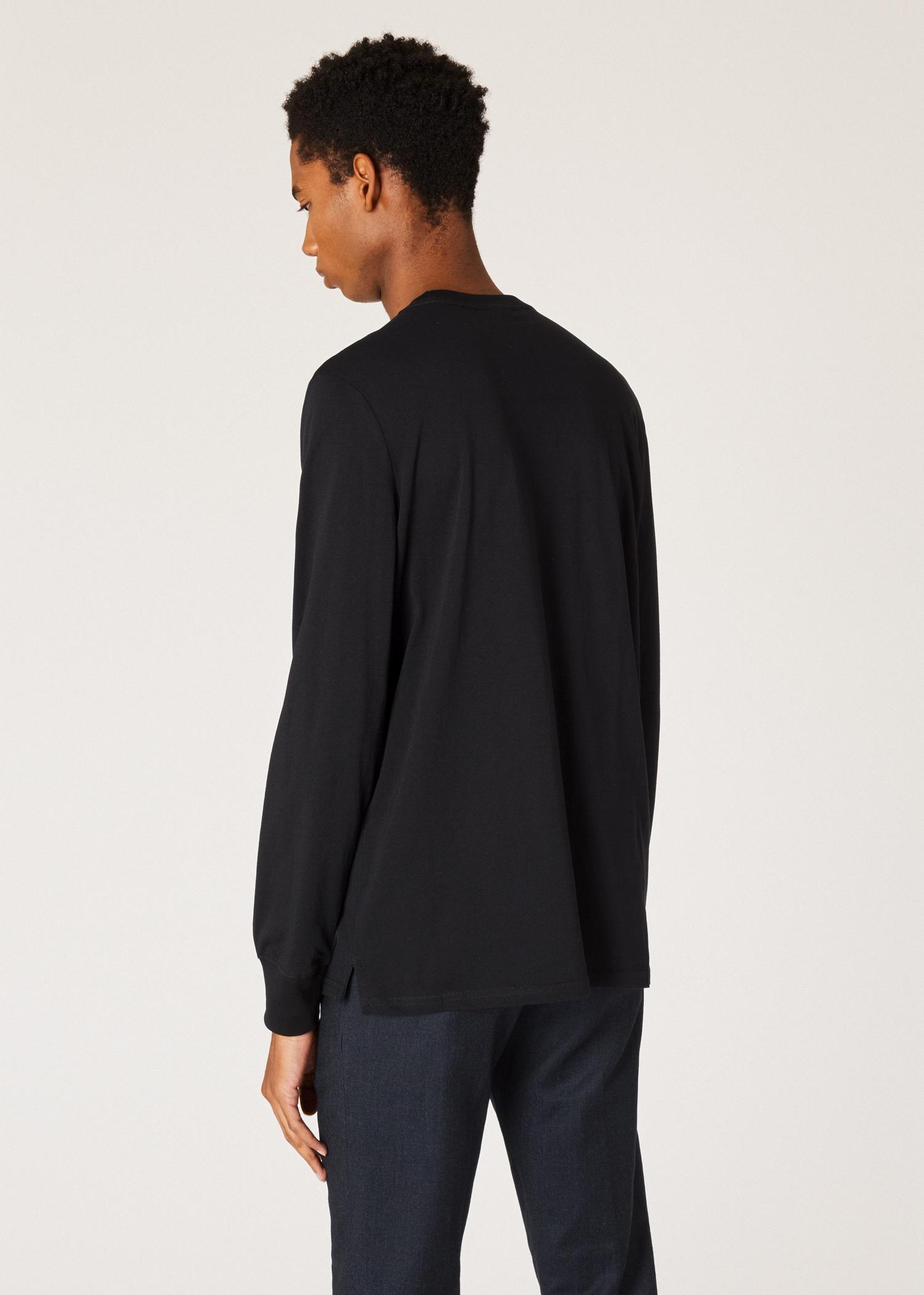 Men s Black Organic-Cotton Zebra Logo Long-Sleeve T-Shirt by Paul Smith c8da6f37a8a