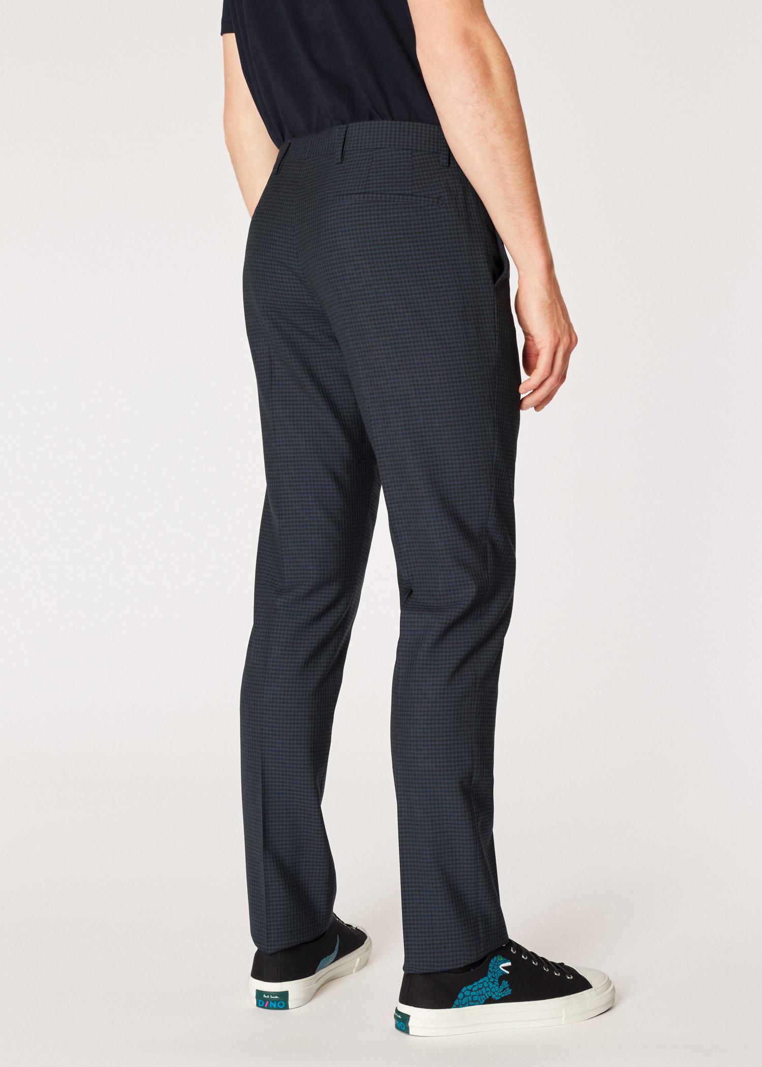pantalon homme bleu marine fonc carreaux en laine coupe. Black Bedroom Furniture Sets. Home Design Ideas