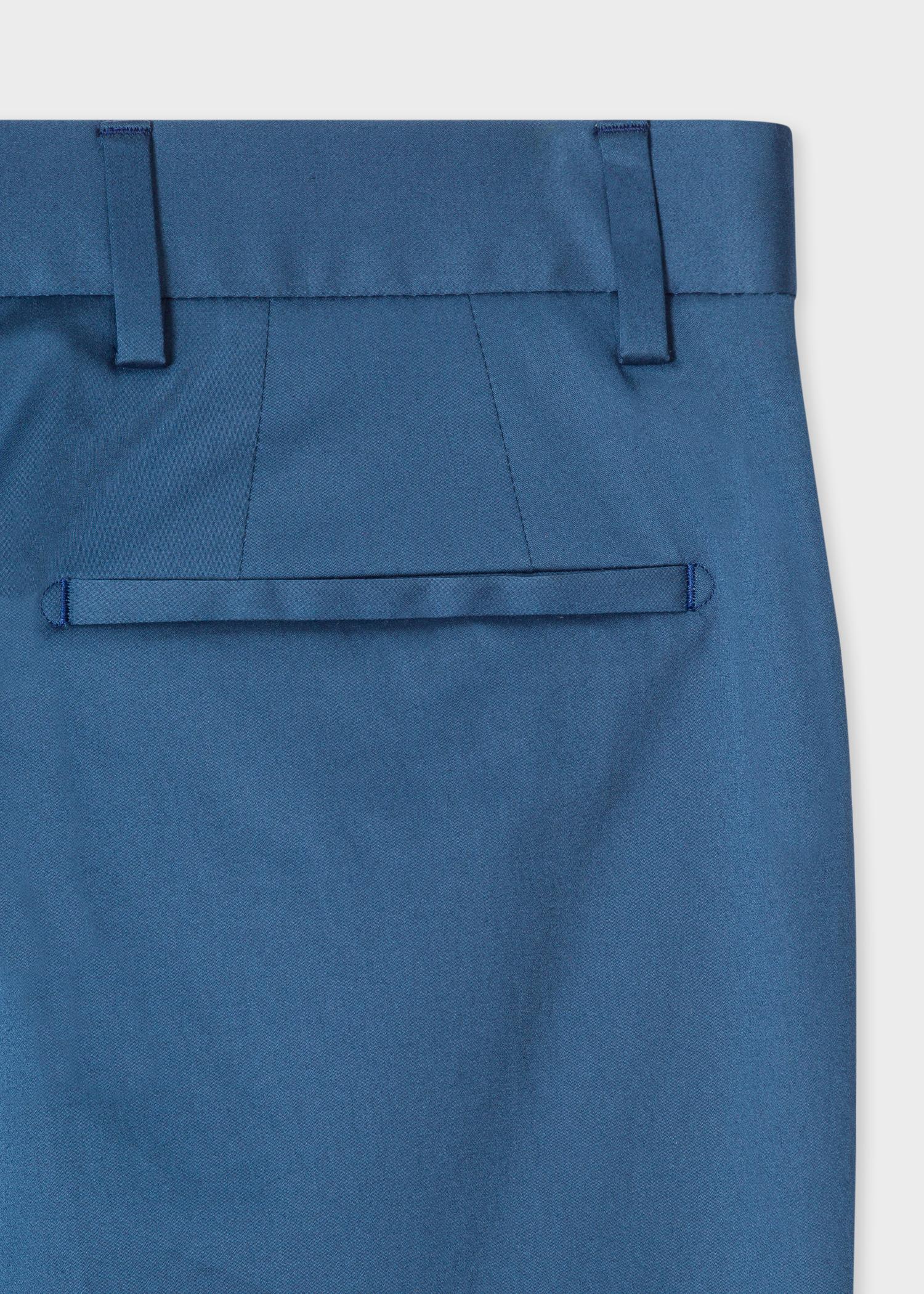 cadafa8f24 Men's Slim-Fit Cobalt Blue Stretch-Cotton Trousers