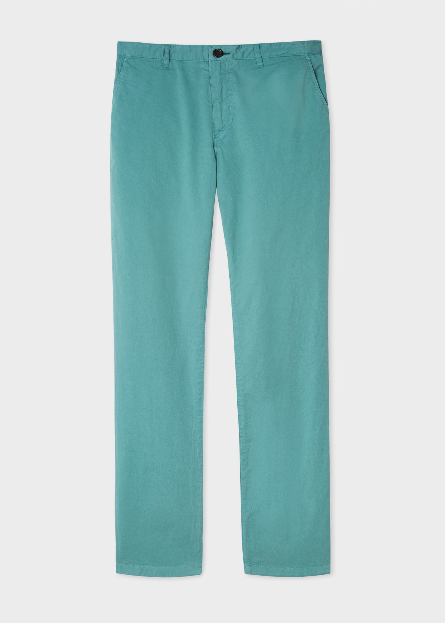 2c99f18ba032 Front view - Men s Slim-Fit Turquoise Stretch Pima-Cotton Chinos Paul Smith