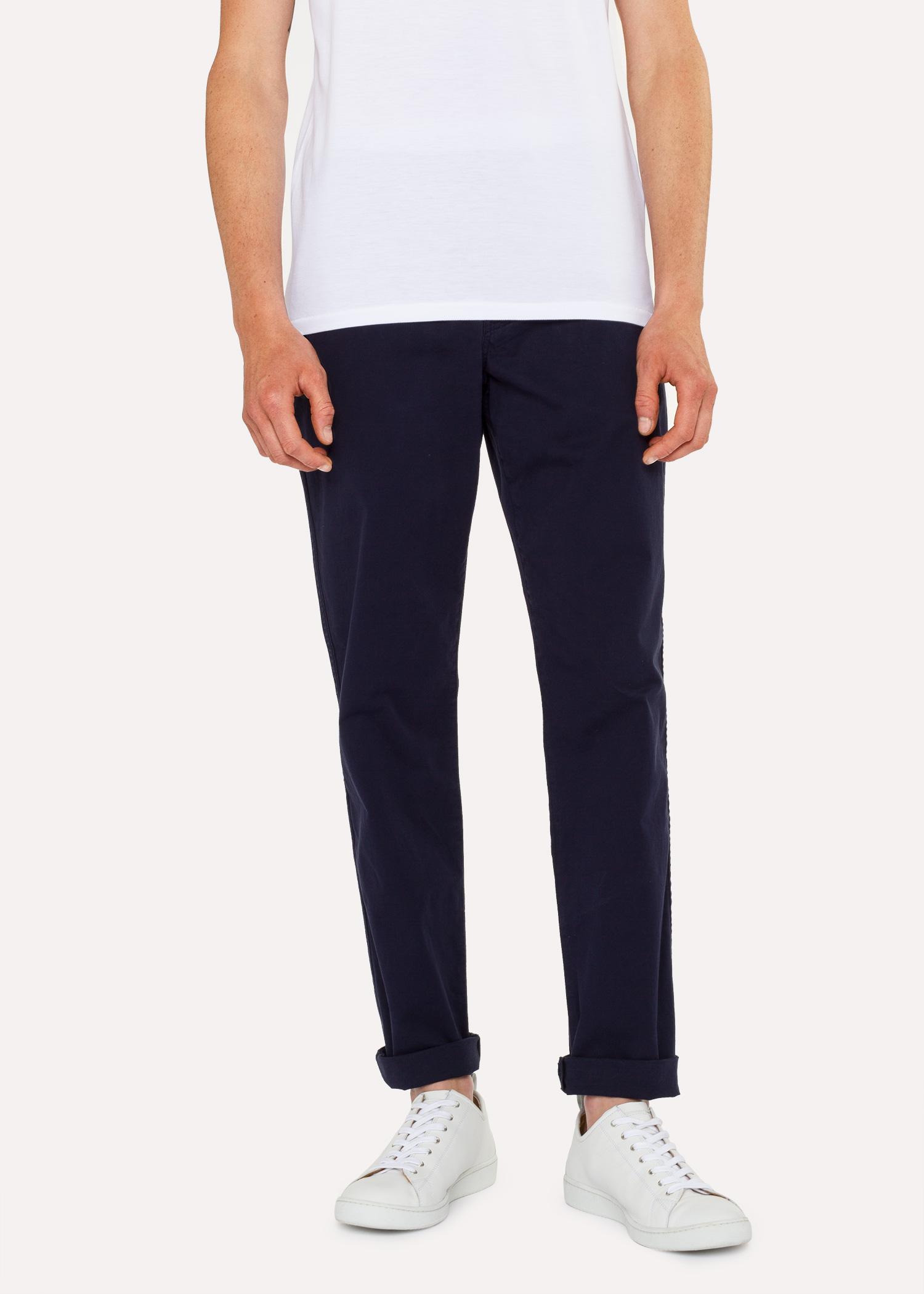Pima Homme Pantalon Coton Coupe Marine Fuseau En Chino Bleu Foncé g0rq5aFqw