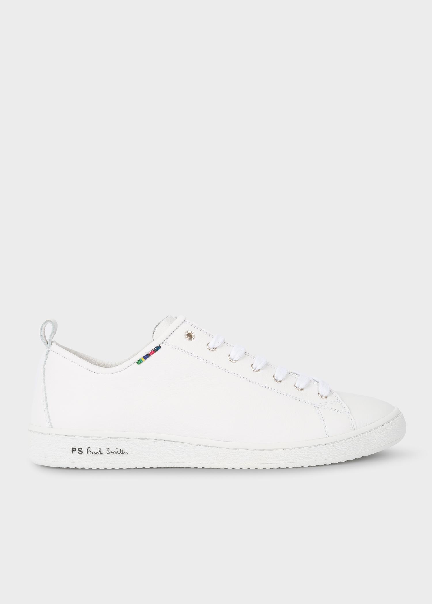 3f934e50b9 Men's White Calf Leather 'Miyata' Sneakers