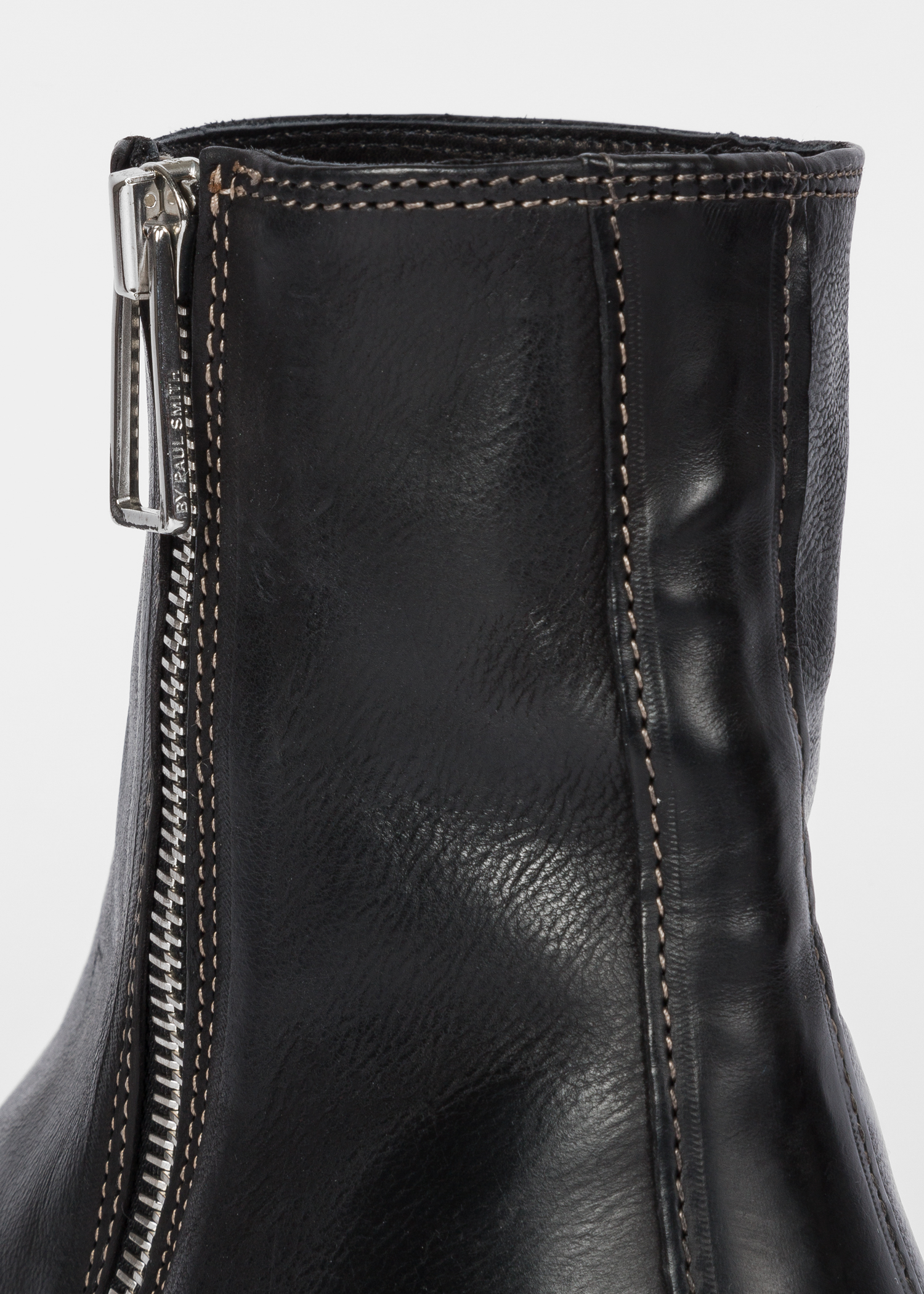 b08863ec5e01 Detailed View - Men s Black Leather  Billy  Zip Boots Paul Smith