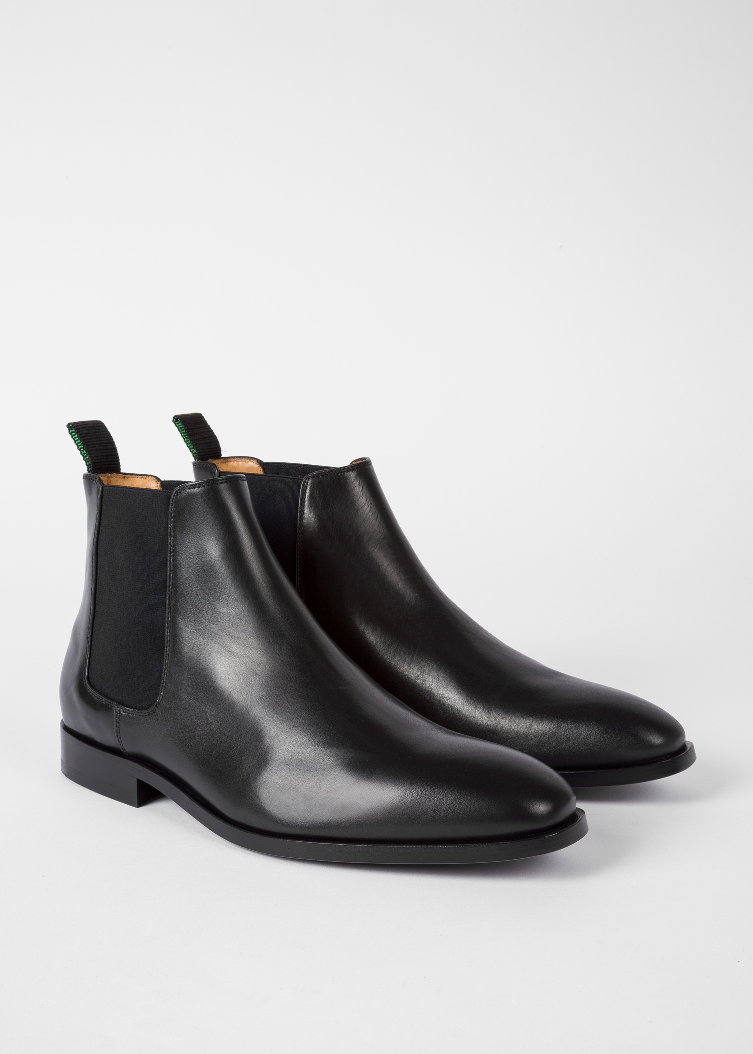 fa5d0622904 Men's Black Smooth Calf Leather 'Gerald' Chelsea Boots