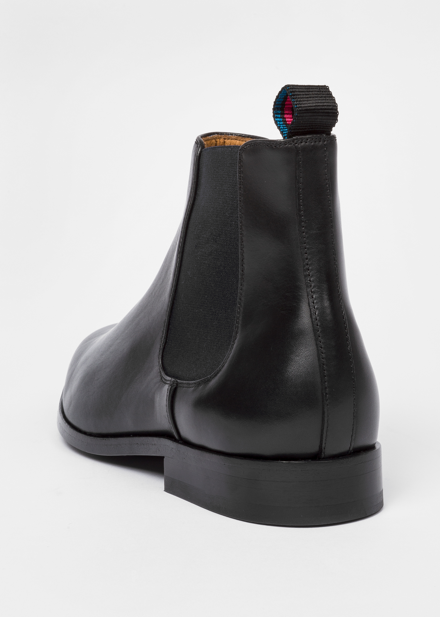 Men S Black Smooth Calf Leather Gerald Chelsea Boots