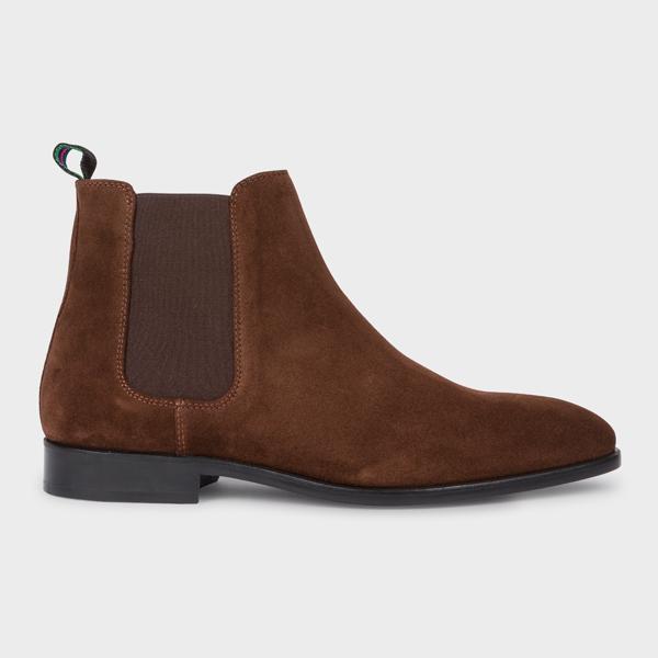 fb9b24c9ba0 Men's Dark Brown Suede 'Gerald' Chelsea Boots