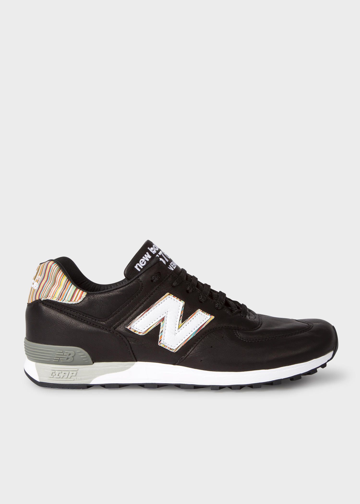 New Balance + Paul Smith - Men's Black Leather 576 Trainers