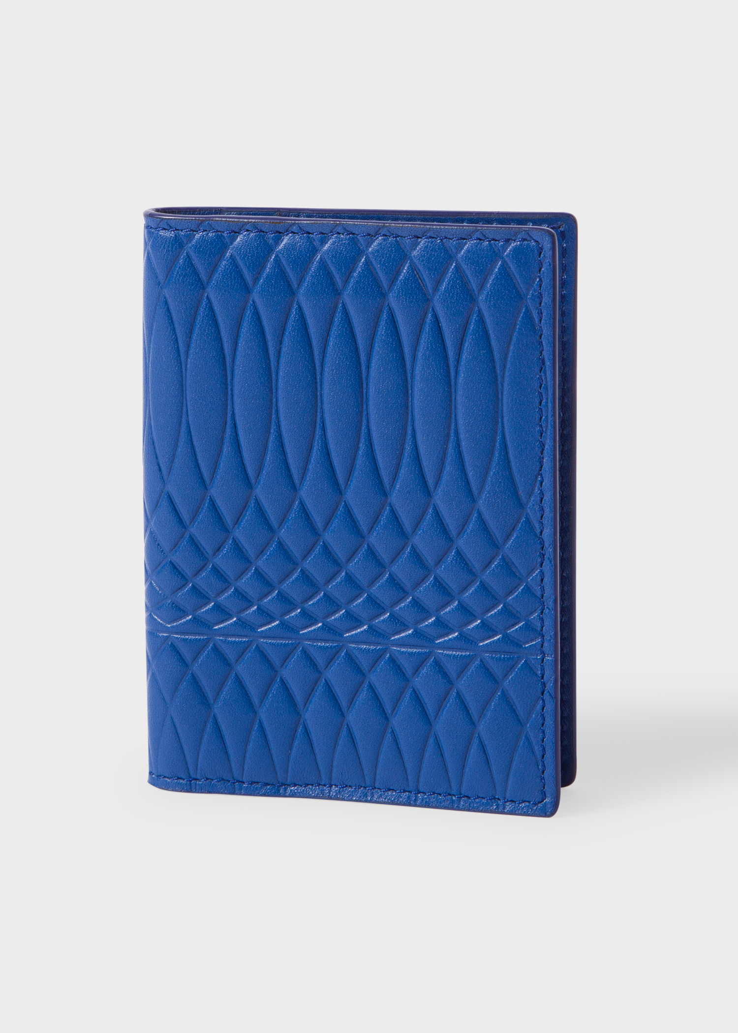 64f0efc70a3d Paul Smith No.9 | Men's Blue Leather Credit Card Wallet - Paul Smith ...