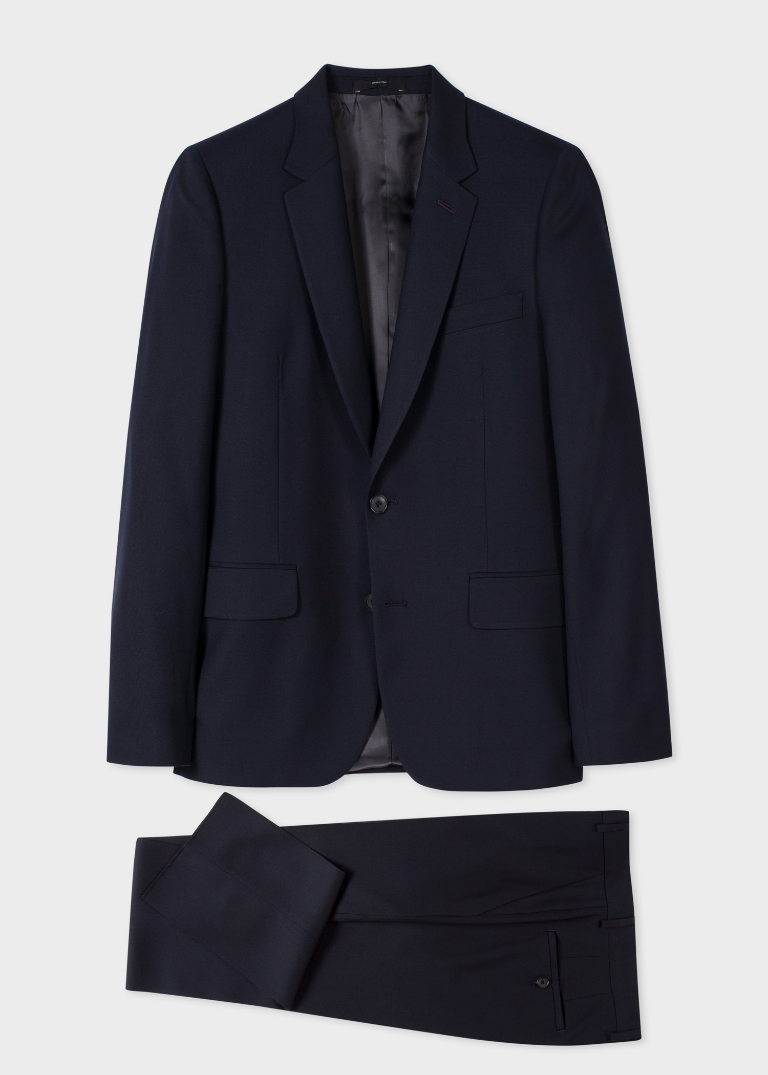 623659f1728 The Soho - Men s Tailored-Fit Navy Wool  A Suit To Travel In  - Paul ...