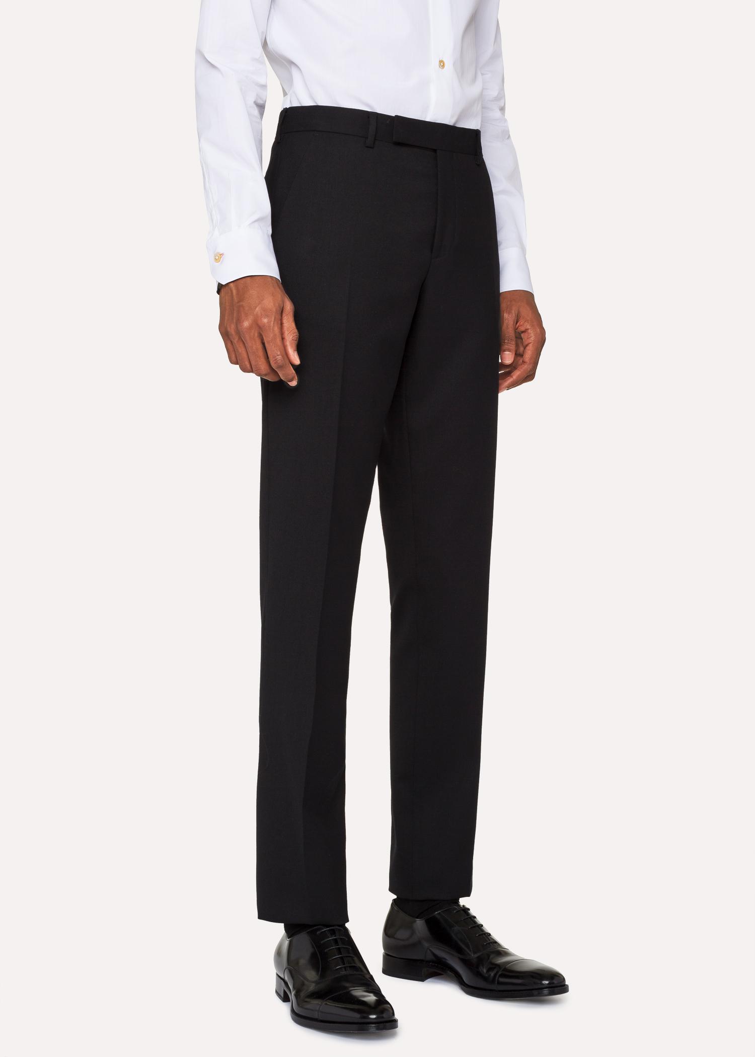 711d390cfa81a Pantalon Homme 'A Suit To Travel In' Noir En Laine Coupe Slim Paul Smith