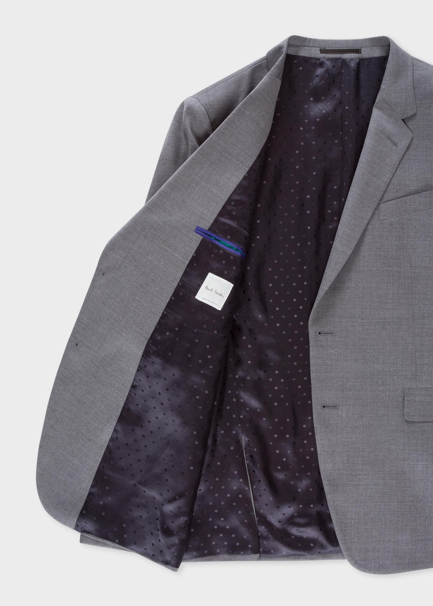 82addfd4240 Men's Slim-Fit Grey Wool Suit