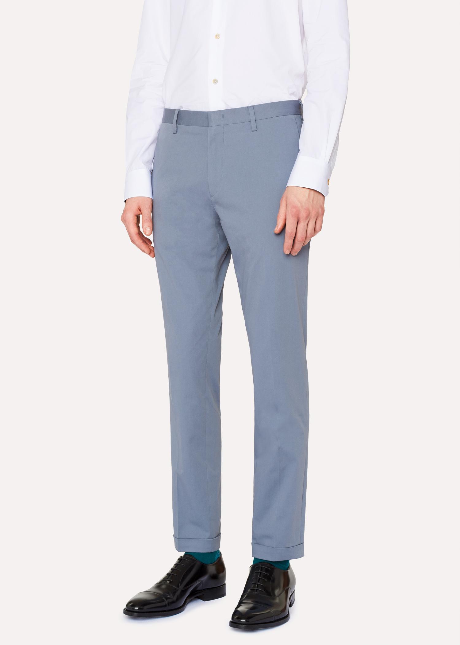 Pantalon Homme Bleu Clair En Coton Stretch Coupe Slim - Paul Smith ... 90497dee6dc8
