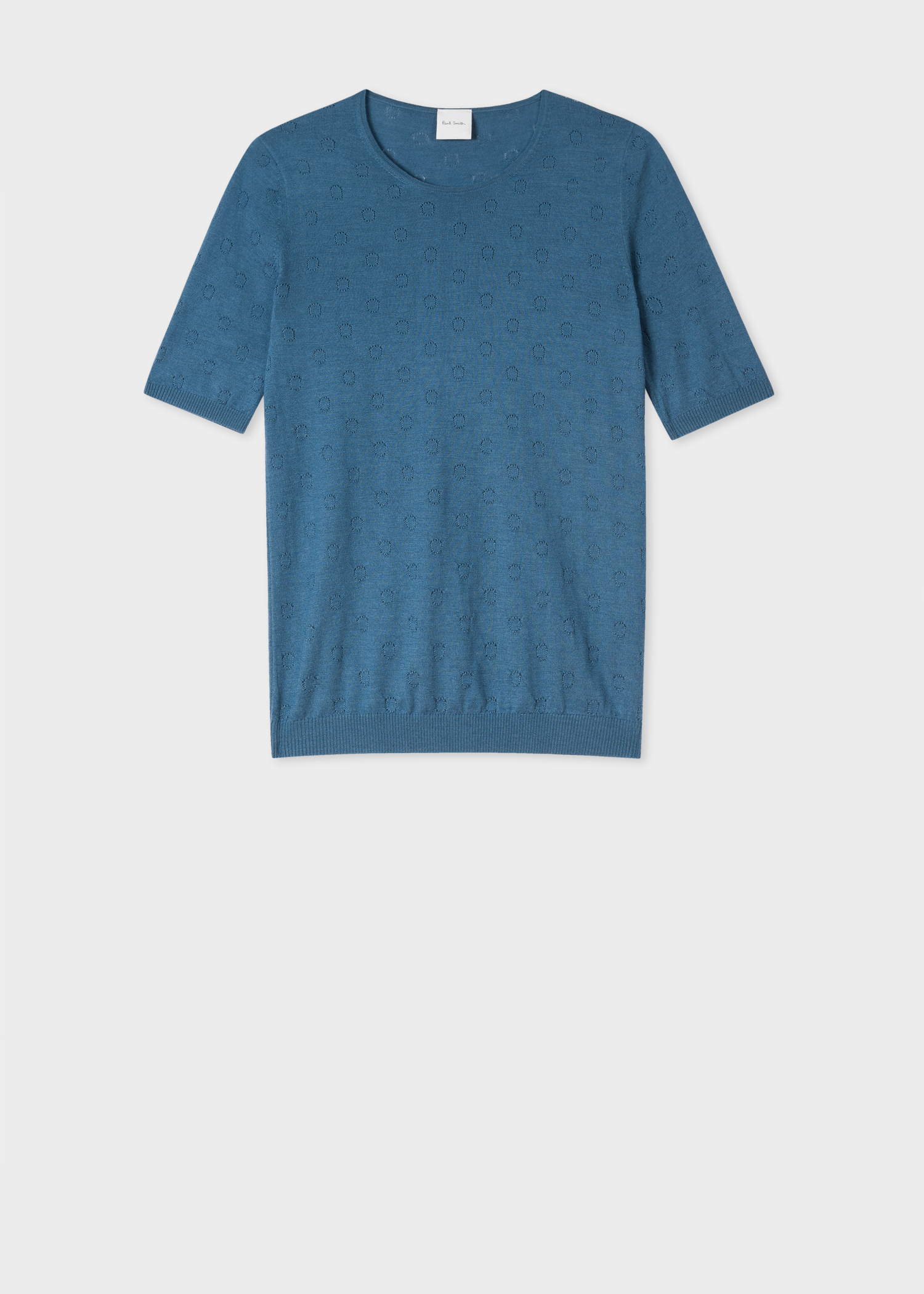 9aa9be6bc92 Women's Petrol Merino Wool And Silk-Blend Knitted T-Shirt Paul Smith