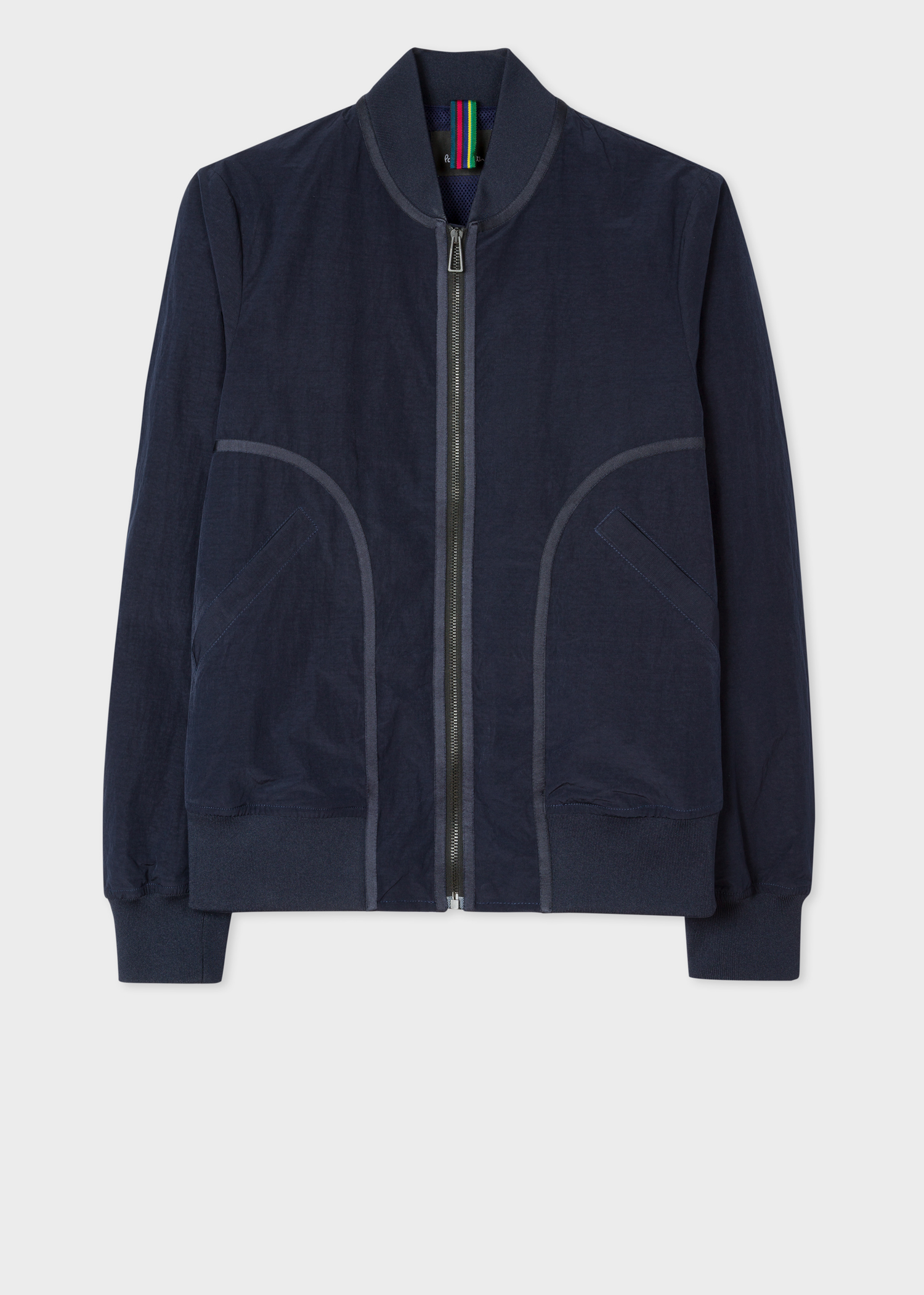 2cdca3aed Men's Navy Panelled Bomber Jacket - Paul Smith Asia