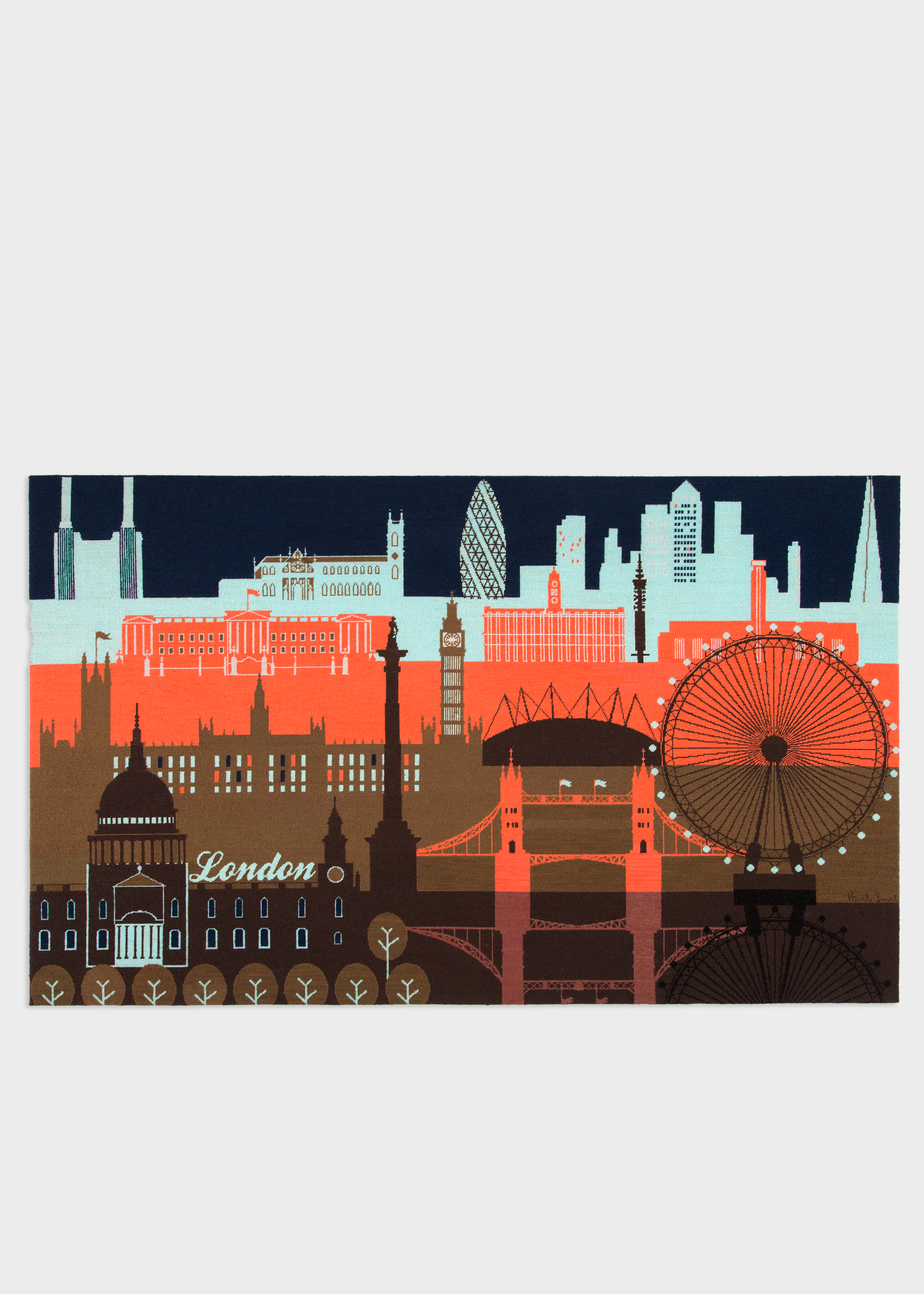Paul Smith For The Rug Company London Skyline Wall Hanging