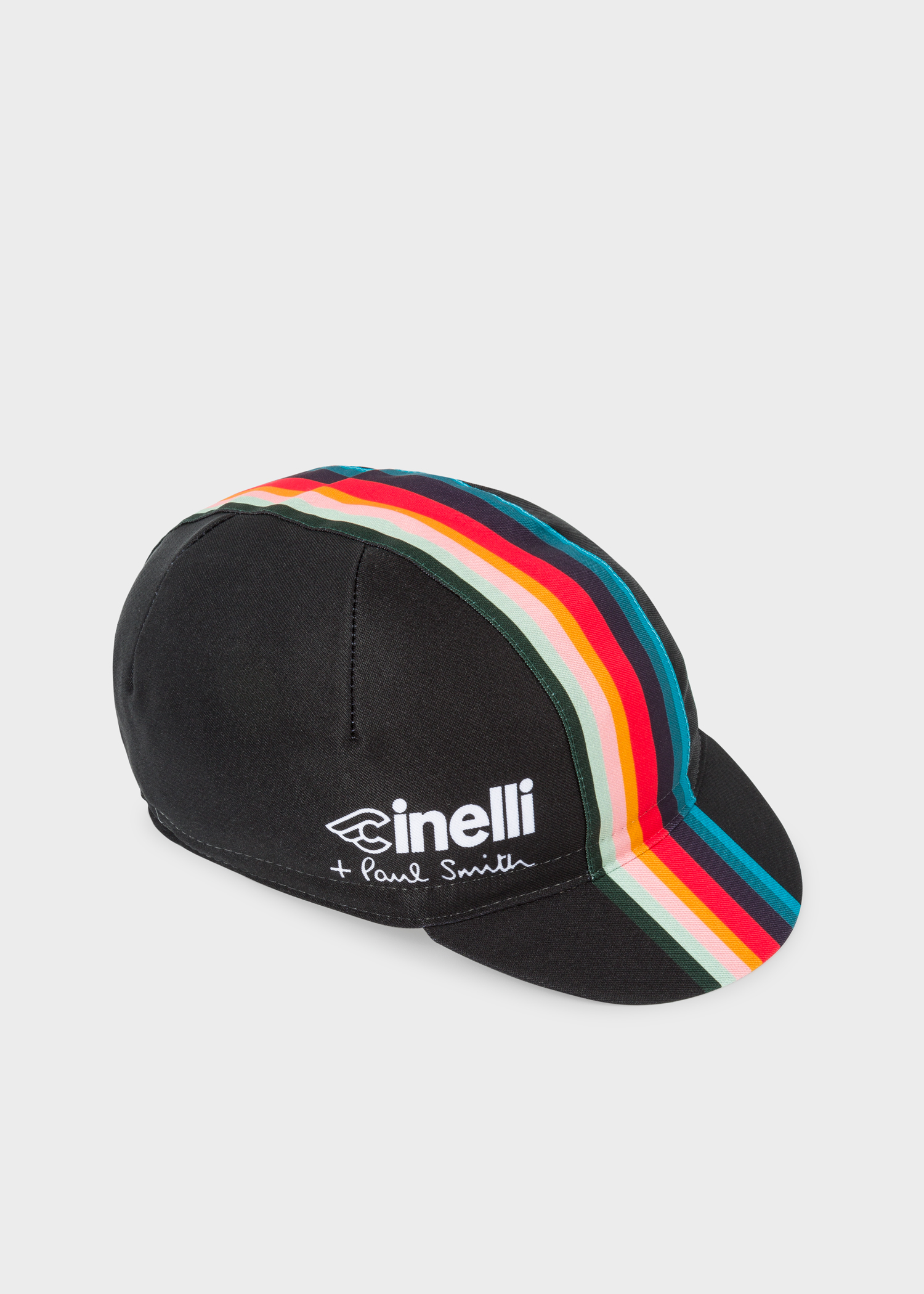 Paul Smith + Cinelli Black  Artist Stripe  Band Cycling Cap - Paul ... 8b7b5477986