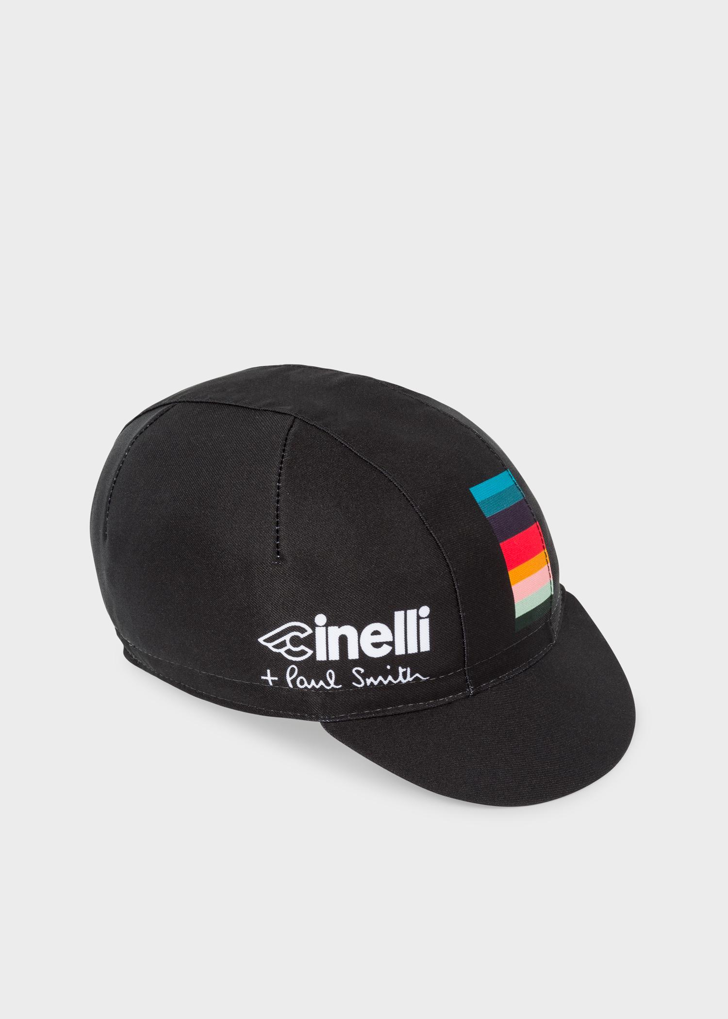 Paul Smith + Cinelli Black  Artist Stripe  Detail Cycling Cap - Paul ... 98466bffe87