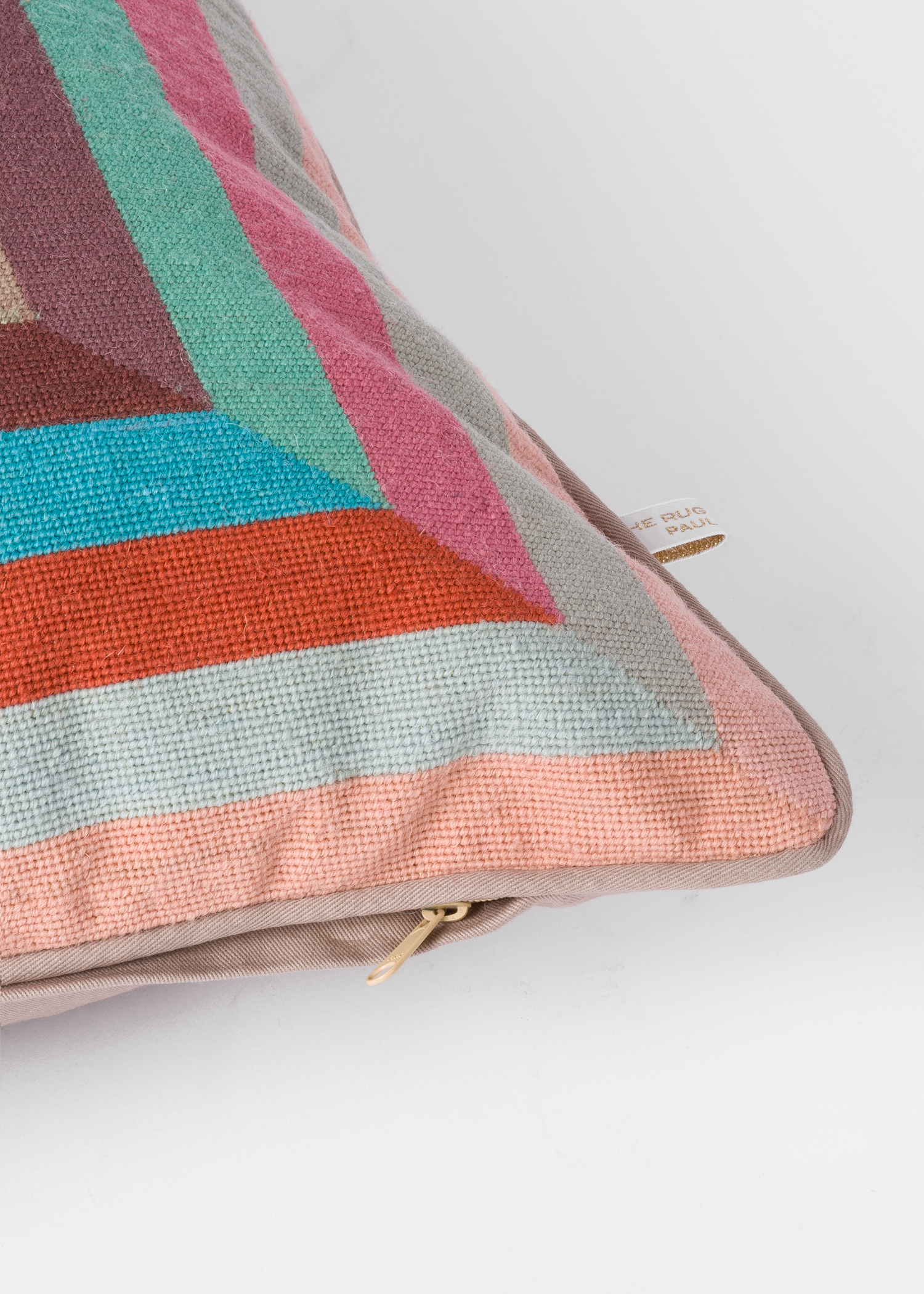 Paul Smith For The Rug Company Prism Light Grey Cushion