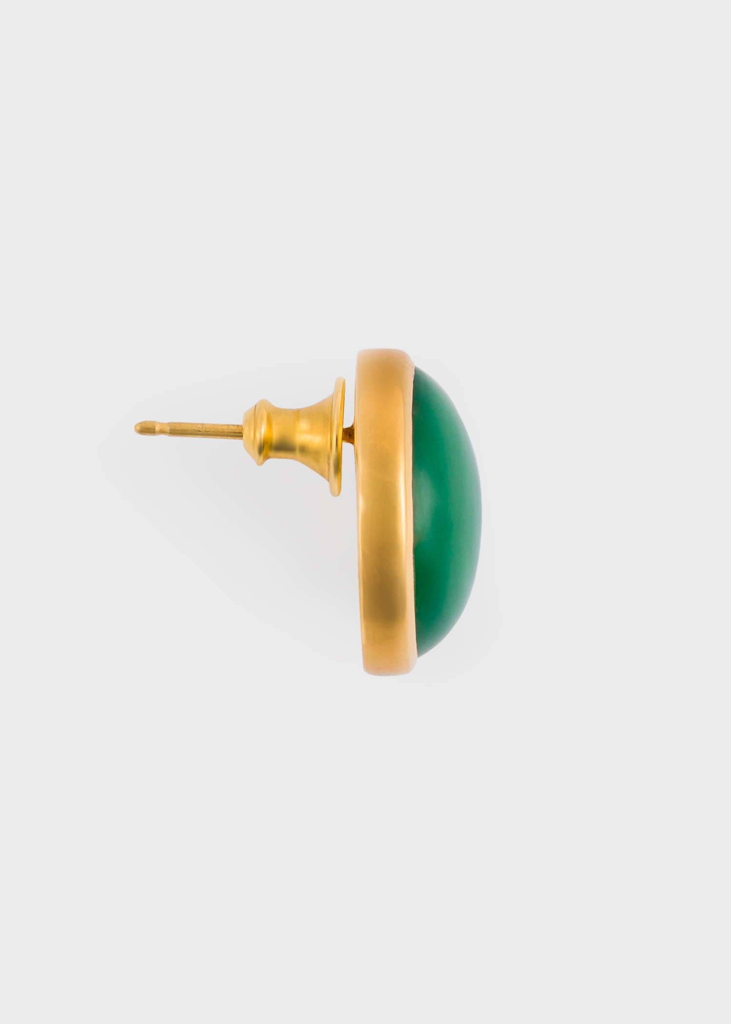 Paul Smith X Rachel Entwistle Gold Stud Earrings With Green Onyx Stone