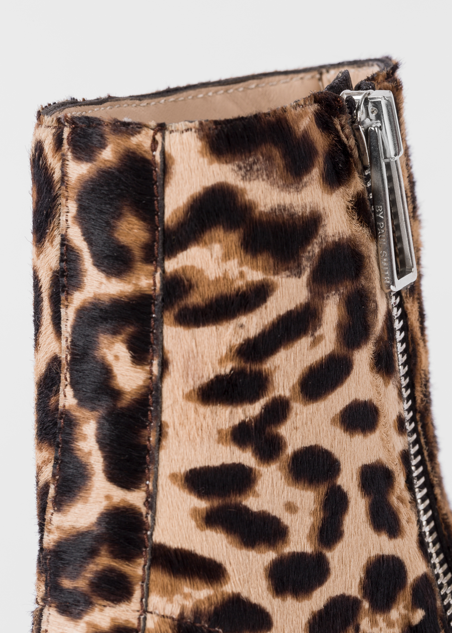 d2f463e0e908 Detailed view- Women's Beige Leopard Print 'Brooklyn' Leather Boots Paul  Smith