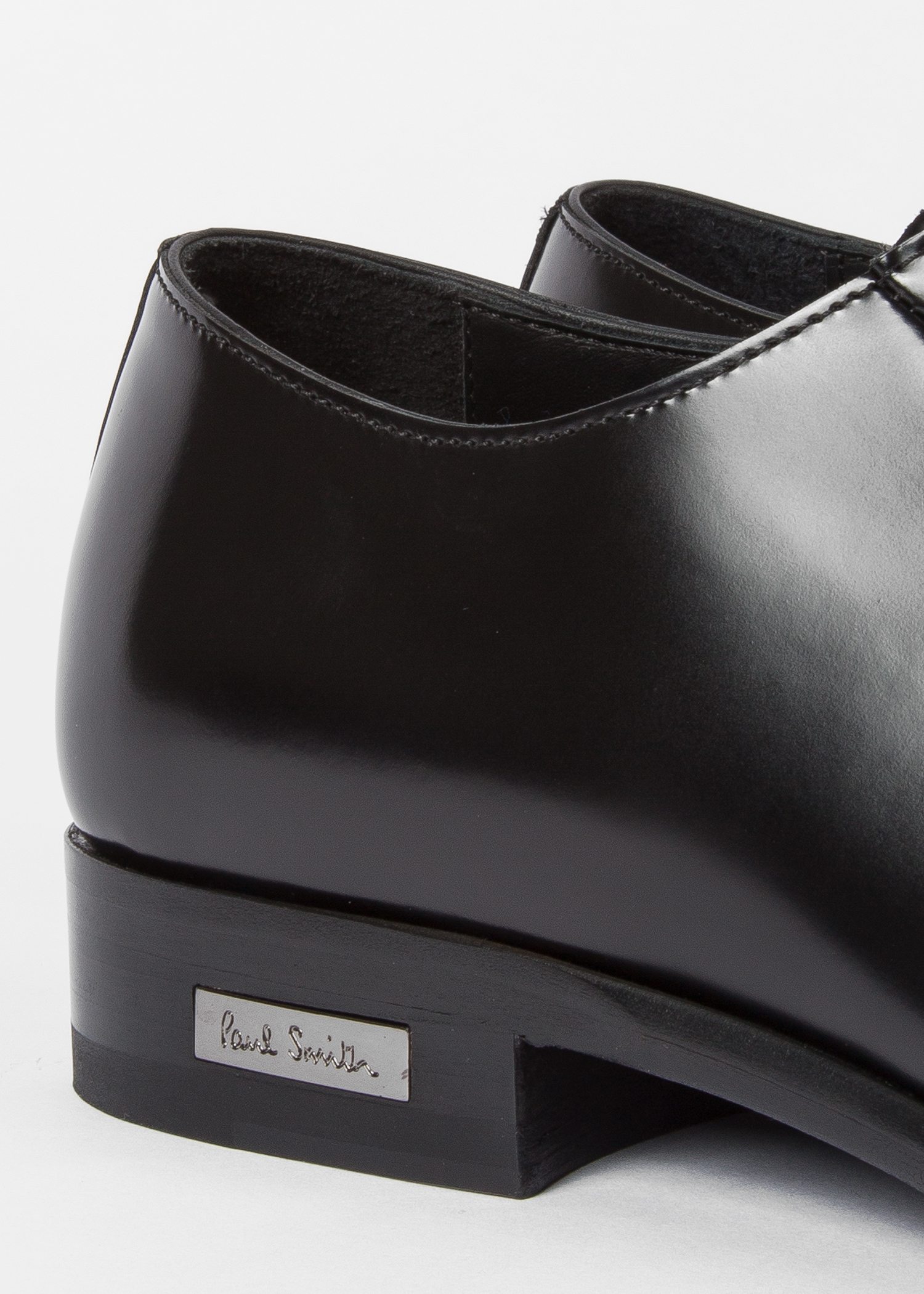 2f65cca04c4 Men's Black Leather 'Spencer' Derby Shoes by Paul Smith