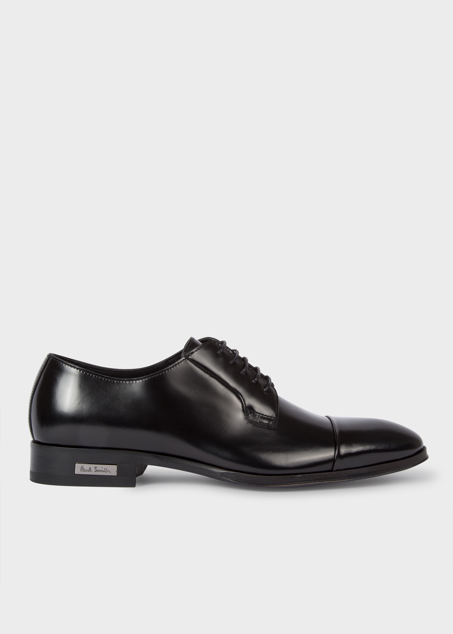 cc0ba8c3eb Men's Black Leather 'Spencer' Derby Shoes - Paul Smith