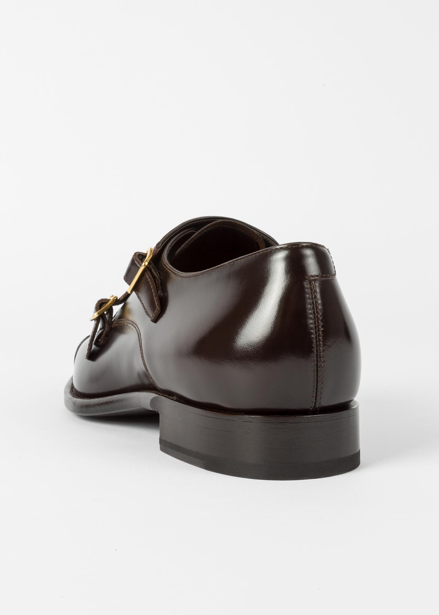 Chaussures Homme  Albemarle  Double Boucle Marron Foncé En Cuir De Veau  Paul Smith 0a2e298d2c1