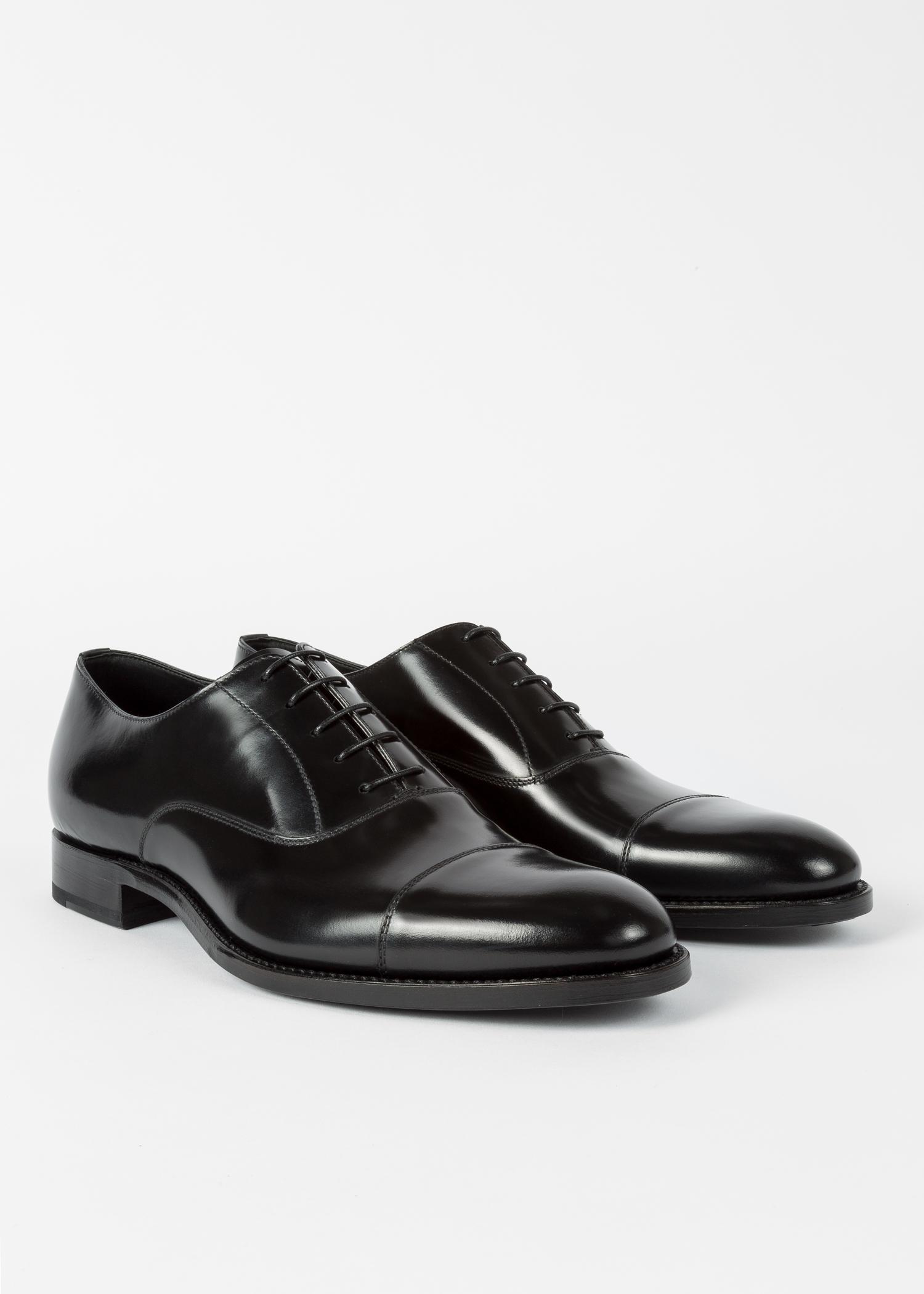 Men S Black Calf Leather Carlisle Oxford Shoes Paul