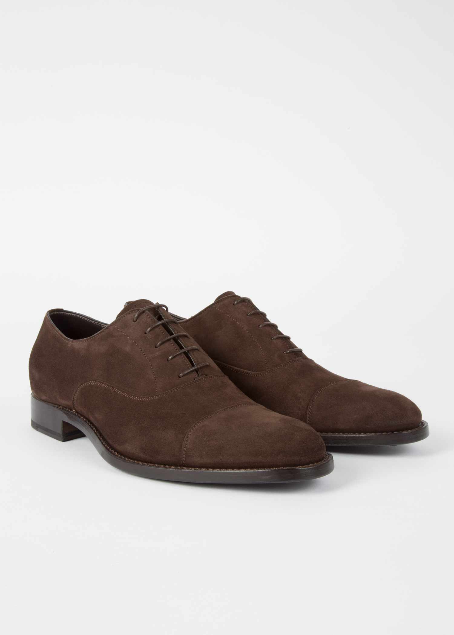 dae617bf5f341 Men's Dark Brown Suede 'Carlisle' Oxford Shoes - Paul Smith