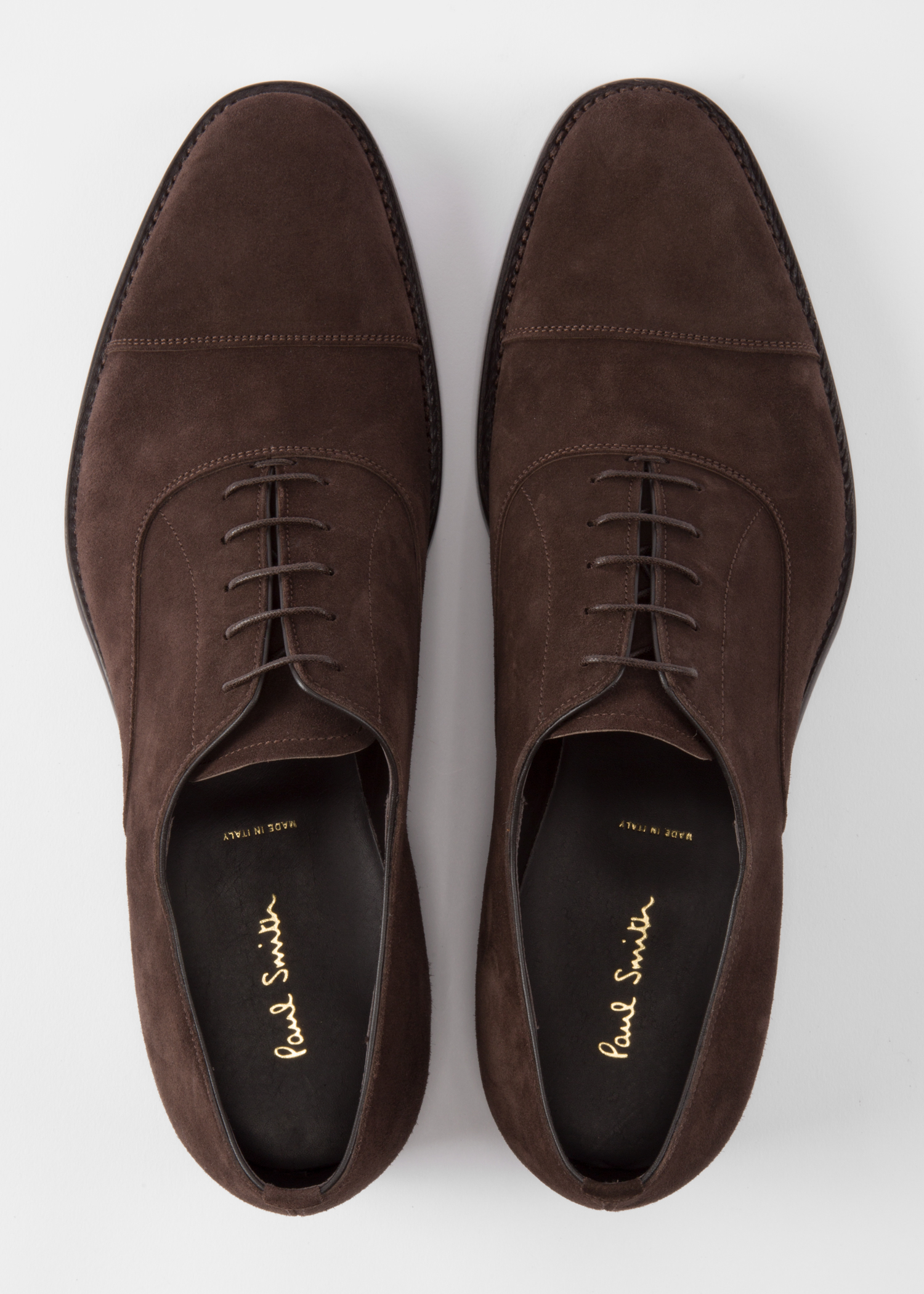 men 39 s dark brown suede 39 carlisle 39 oxford shoes paul smith us. Black Bedroom Furniture Sets. Home Design Ideas